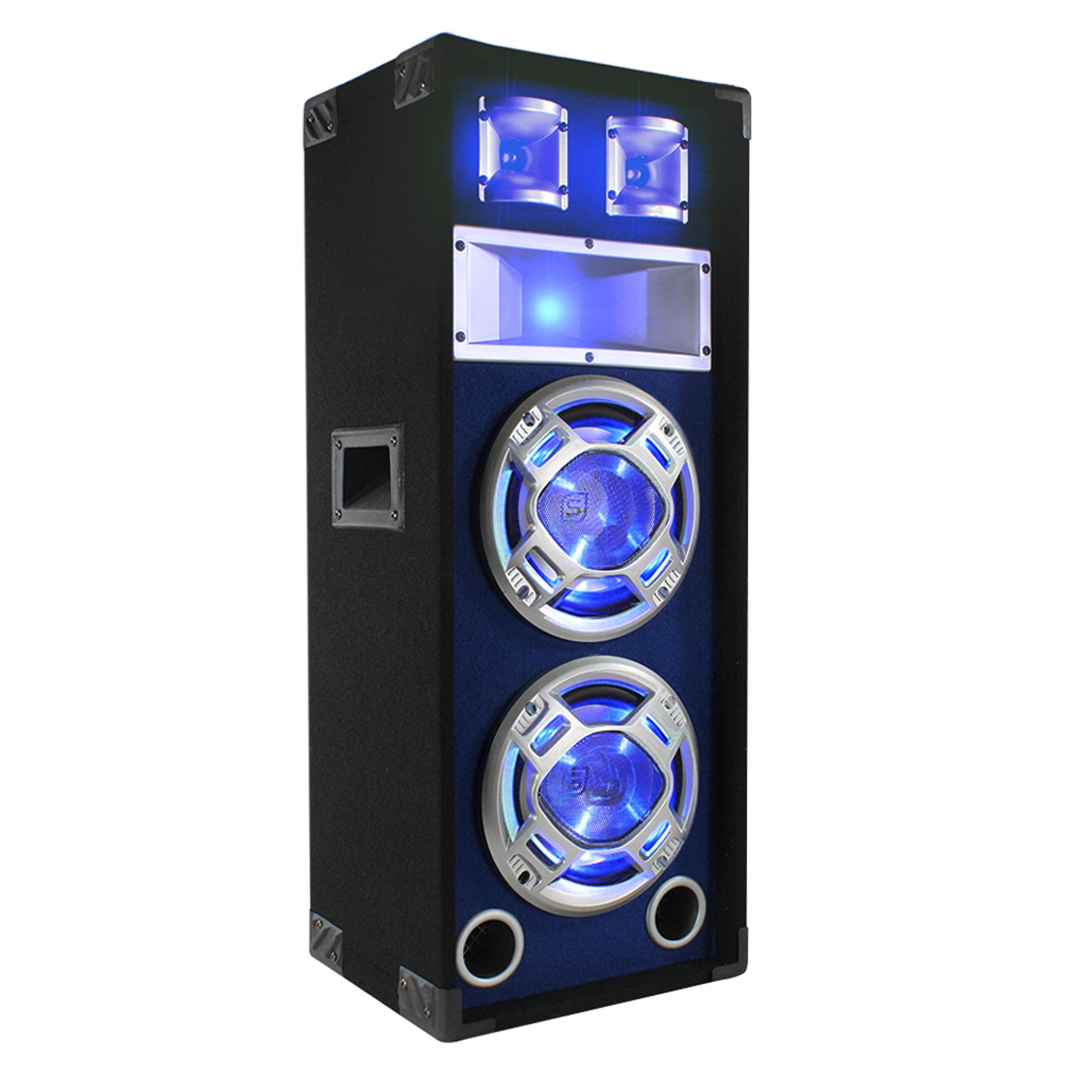 "Skytec 8"" Dual Passive LED Party Speaker"