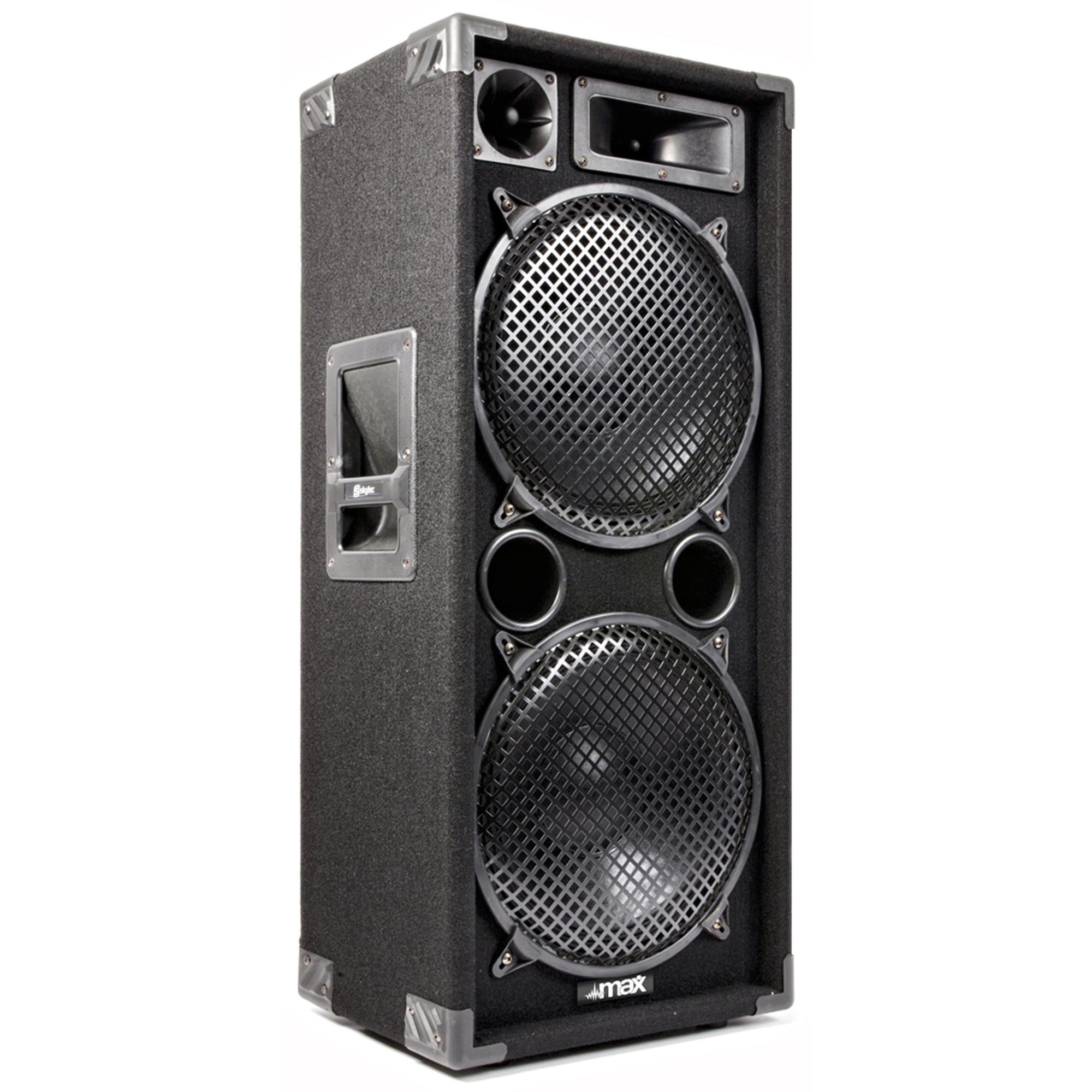 """Max SP212 Dual 12"""" Passive DJ Speaker"""