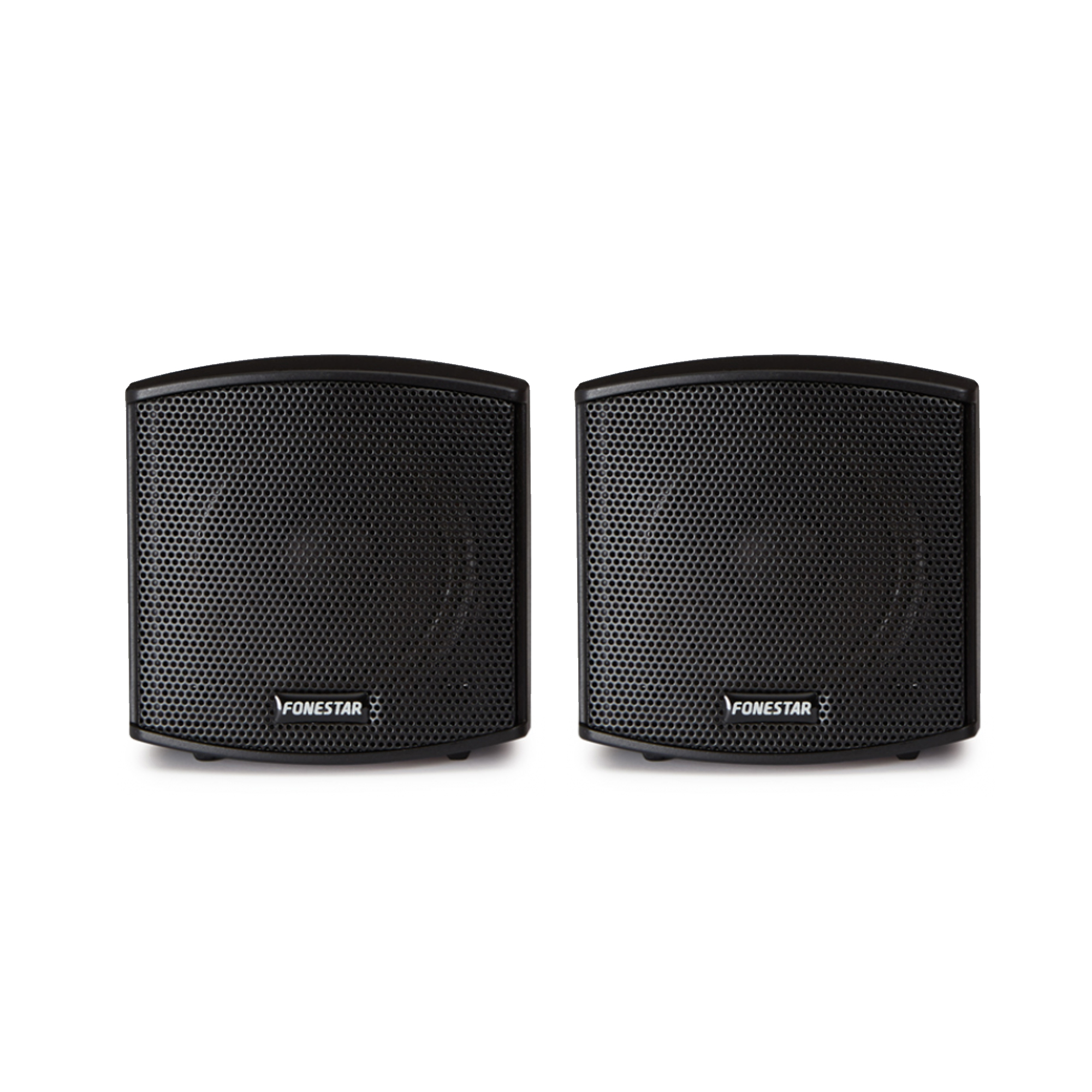 "Fonestar CUBE-62 2.5"" Black Wall Speakers Pair"