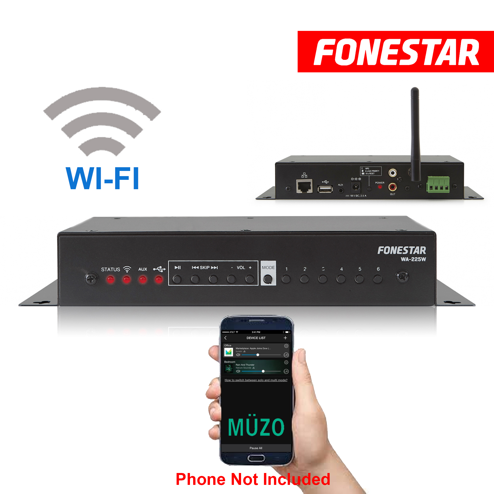 Wi Fi Speaker Amplifier Wireless Multi Room Audio Cast Pa