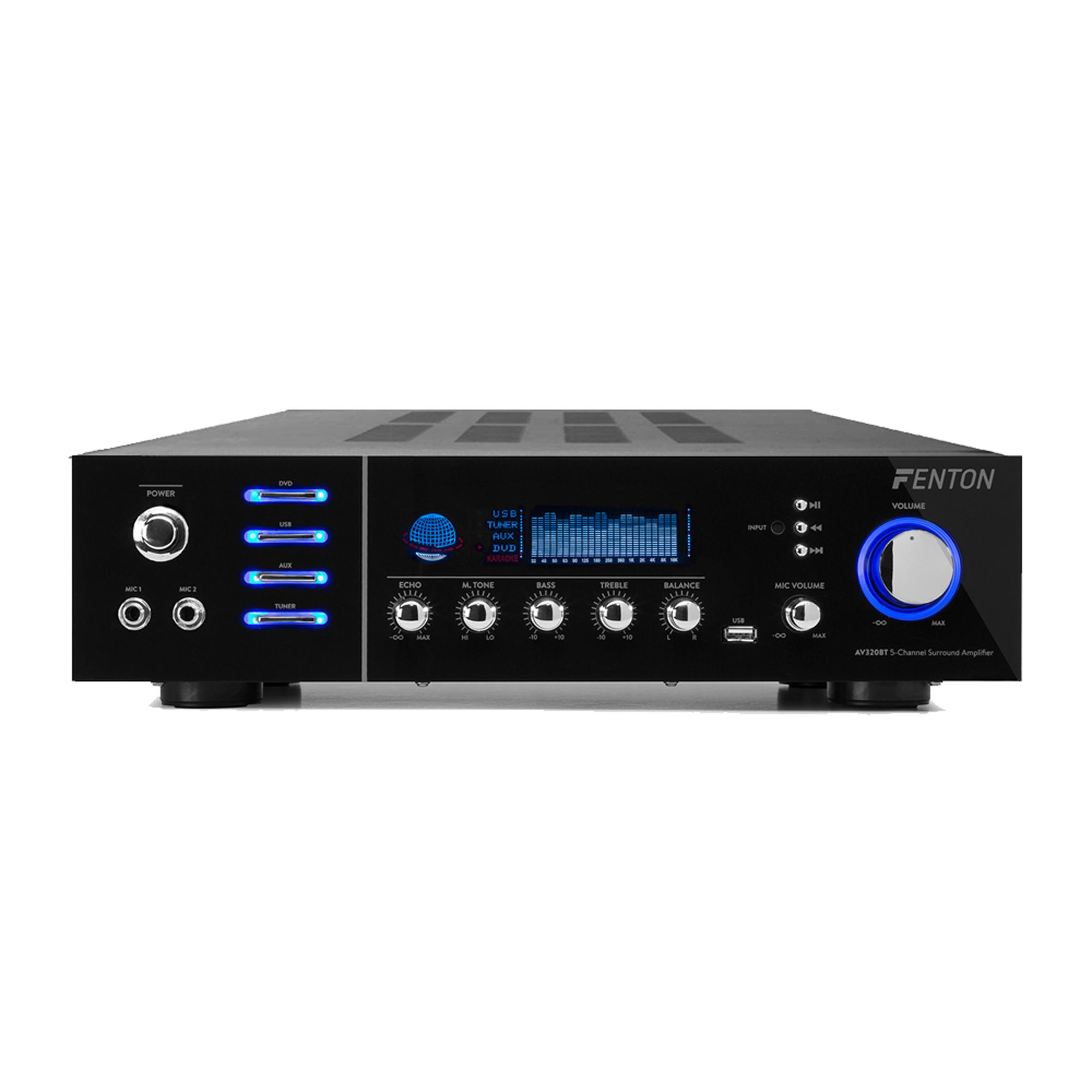 5-Channel Surround Amplifier - Fenton AV320BT - 240W - Bluetooth