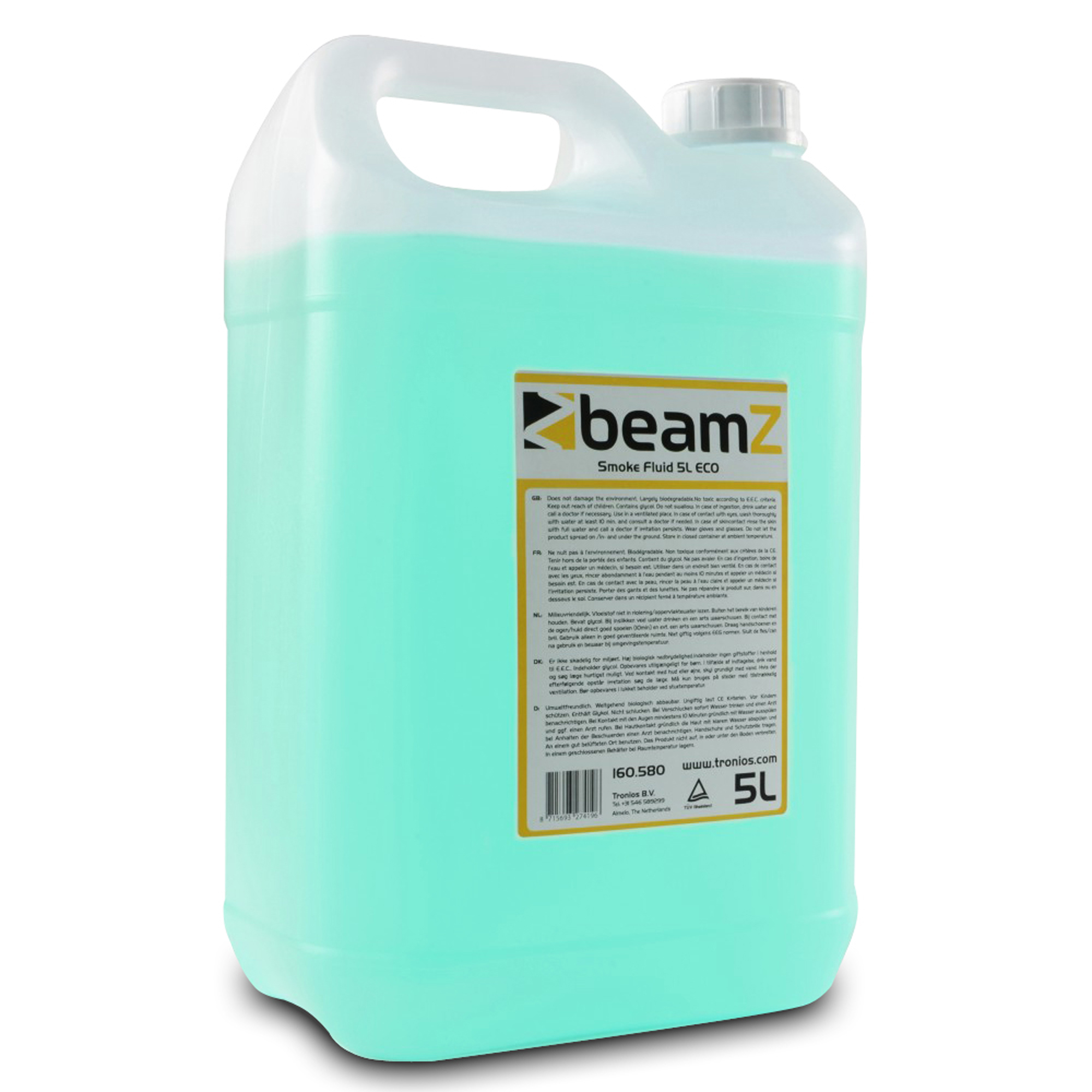 BeamZ 5L Eco Light Green Smoke Fluid