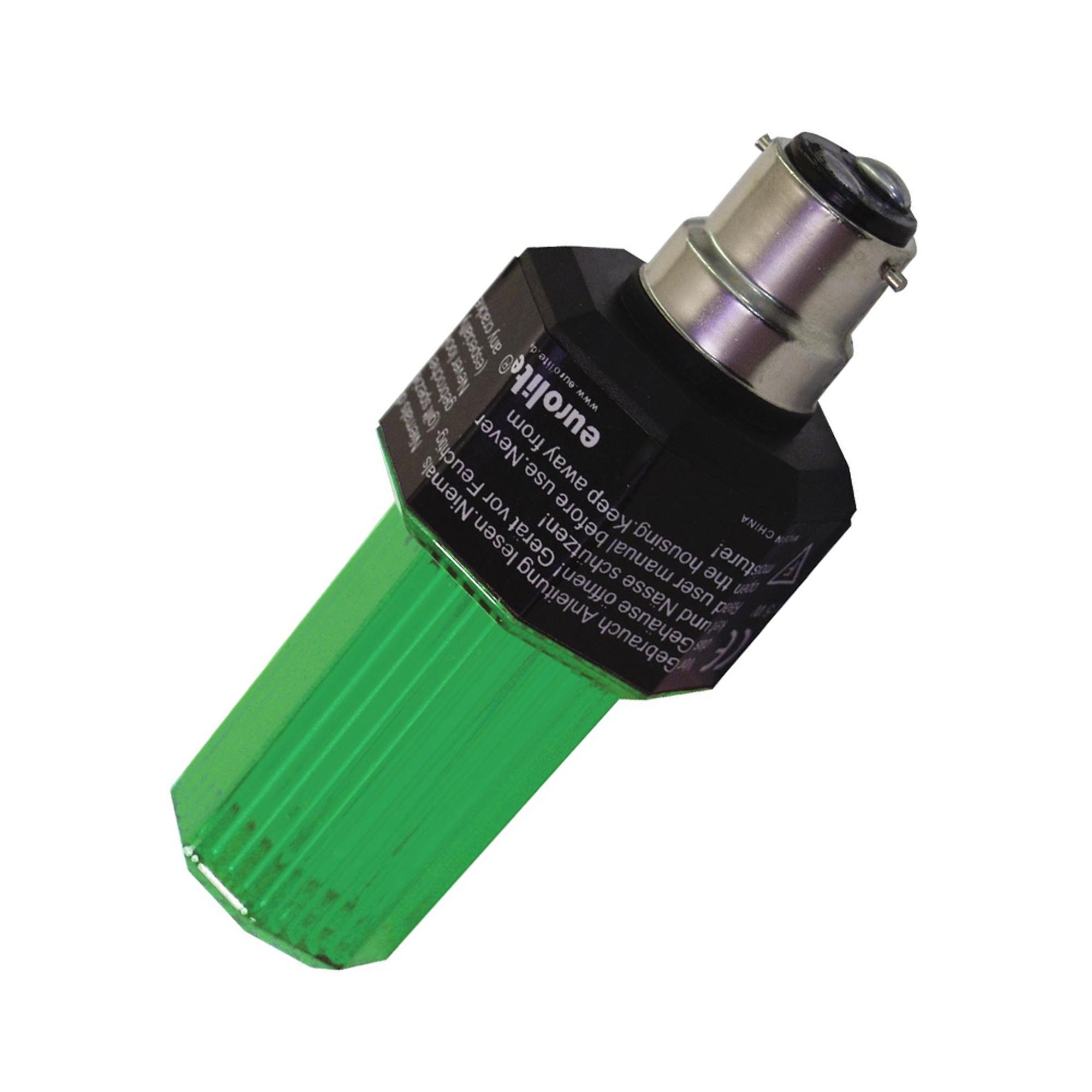 Eurolite Green Strobe Light Bulb with B-22 Base