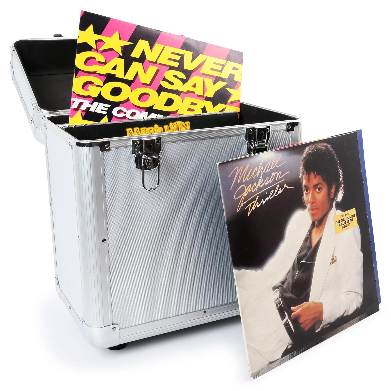PD RC80 Vinyl Record Case - Silver