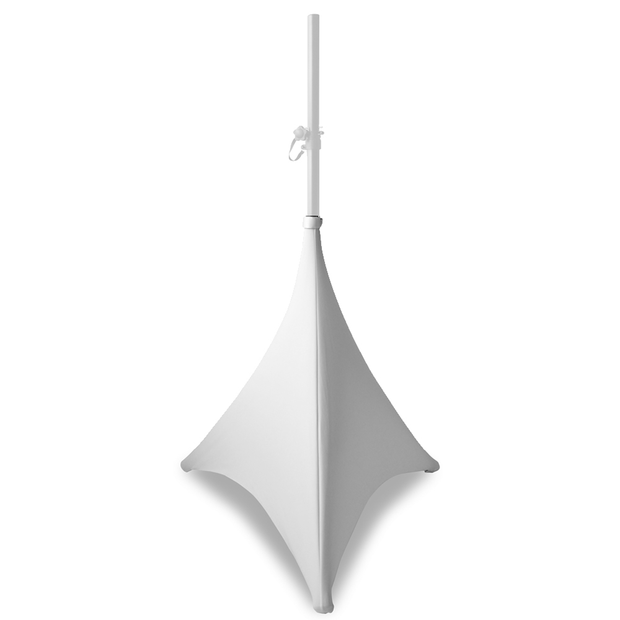 BeamZ White Speaker Stand Cover 70cm