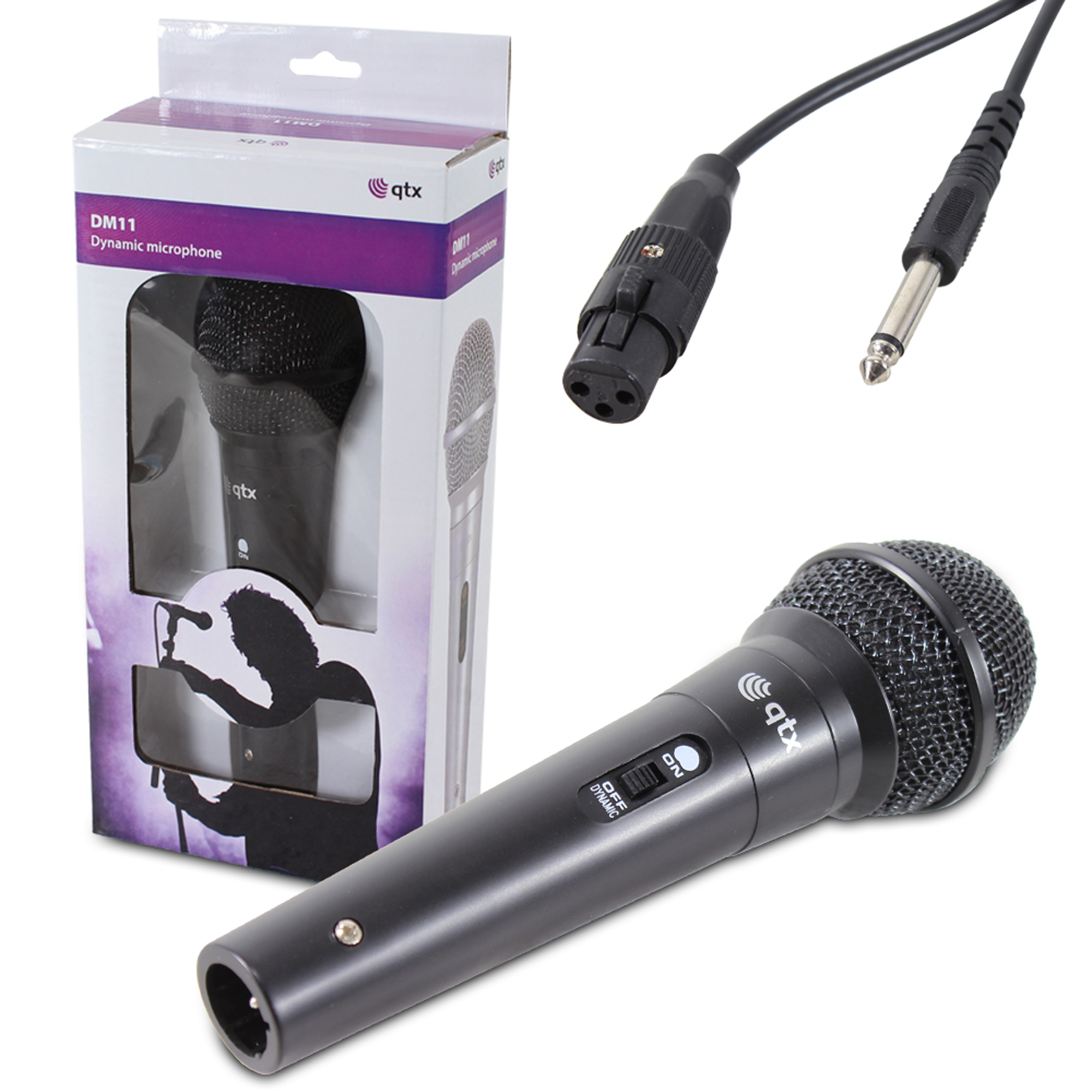 QTX DM-11 Handheld Wired Microphone