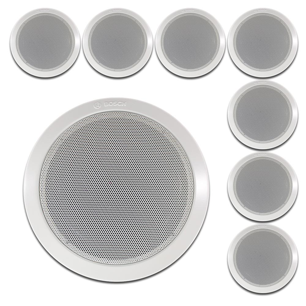 "Bosch 6"" Ceiling Speakers 100V Line, Set of 8"