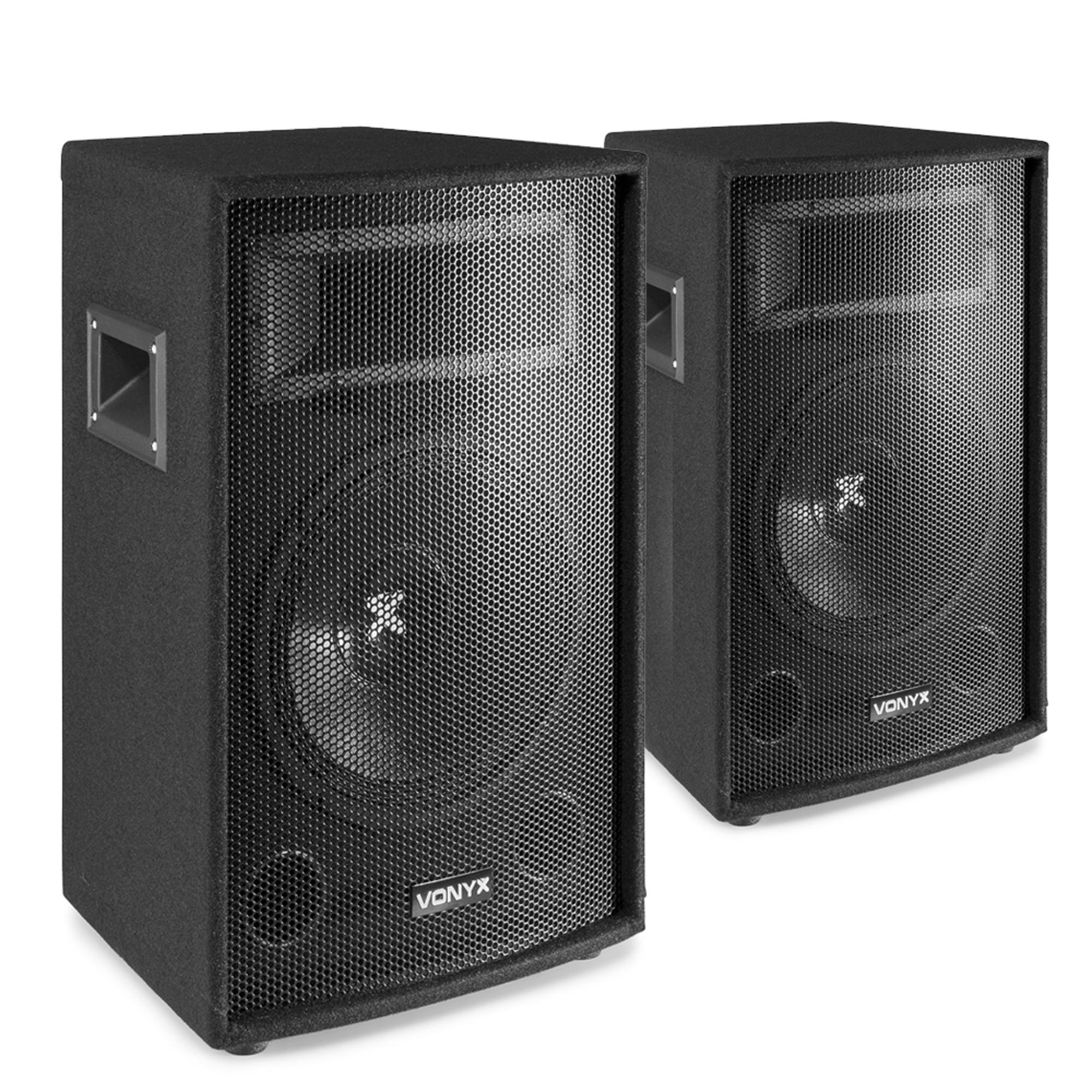"Vonyx 12"" Passive DJ PA Speaker Pair"