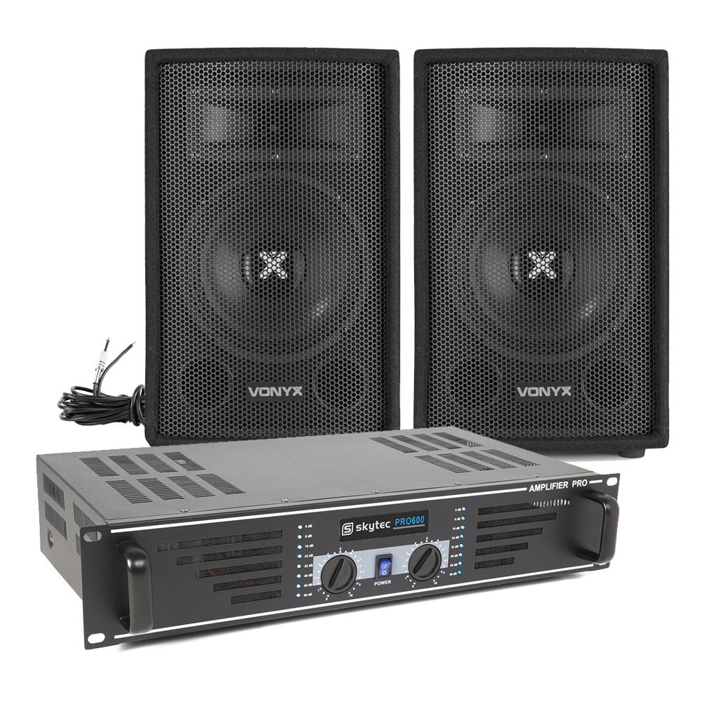 """Vonyx SL8 8"""" Passive DJ/PA Speaker & SKY-600B Amplifier"""