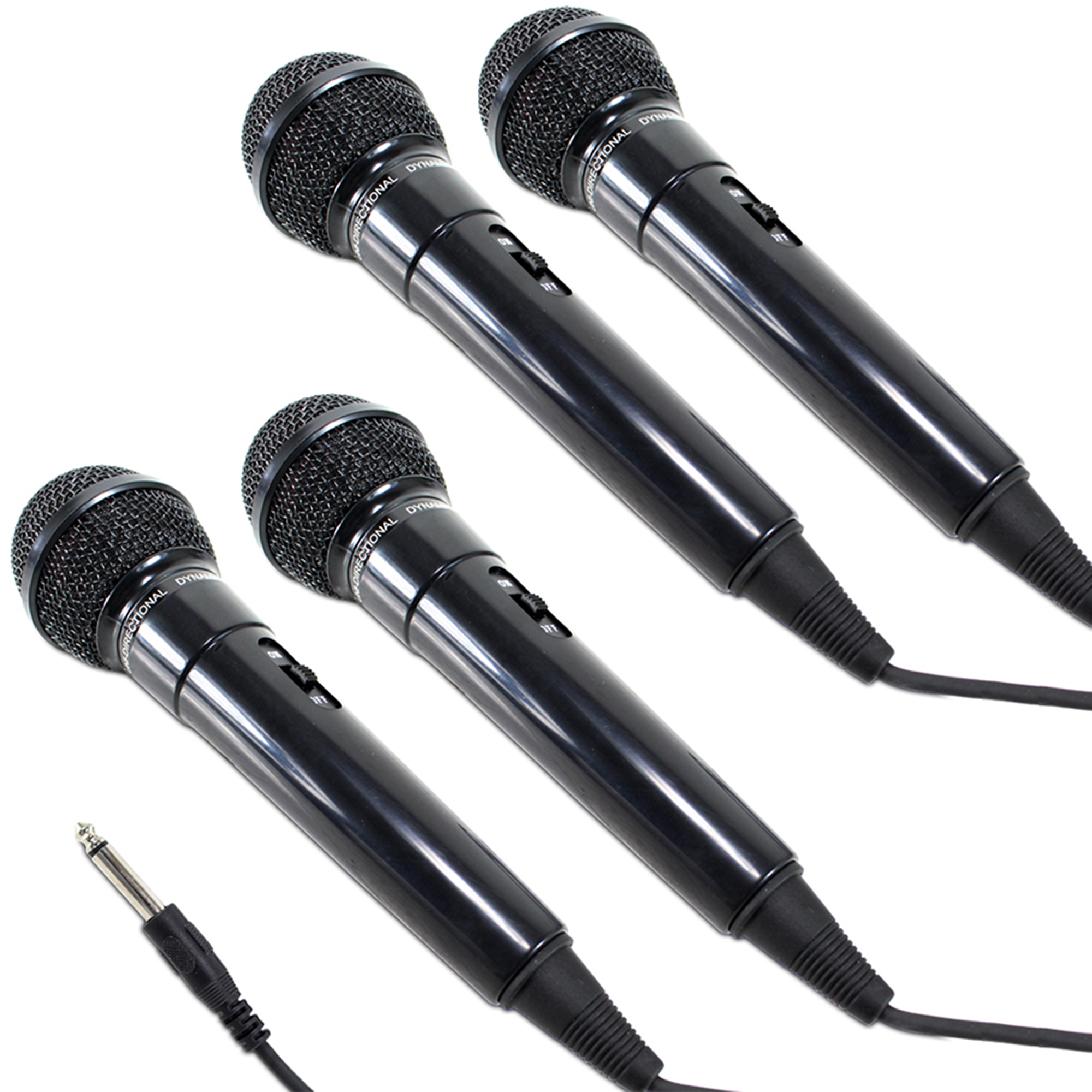 Pulse Dynamic Wired Handheld Microphones, Set of 4