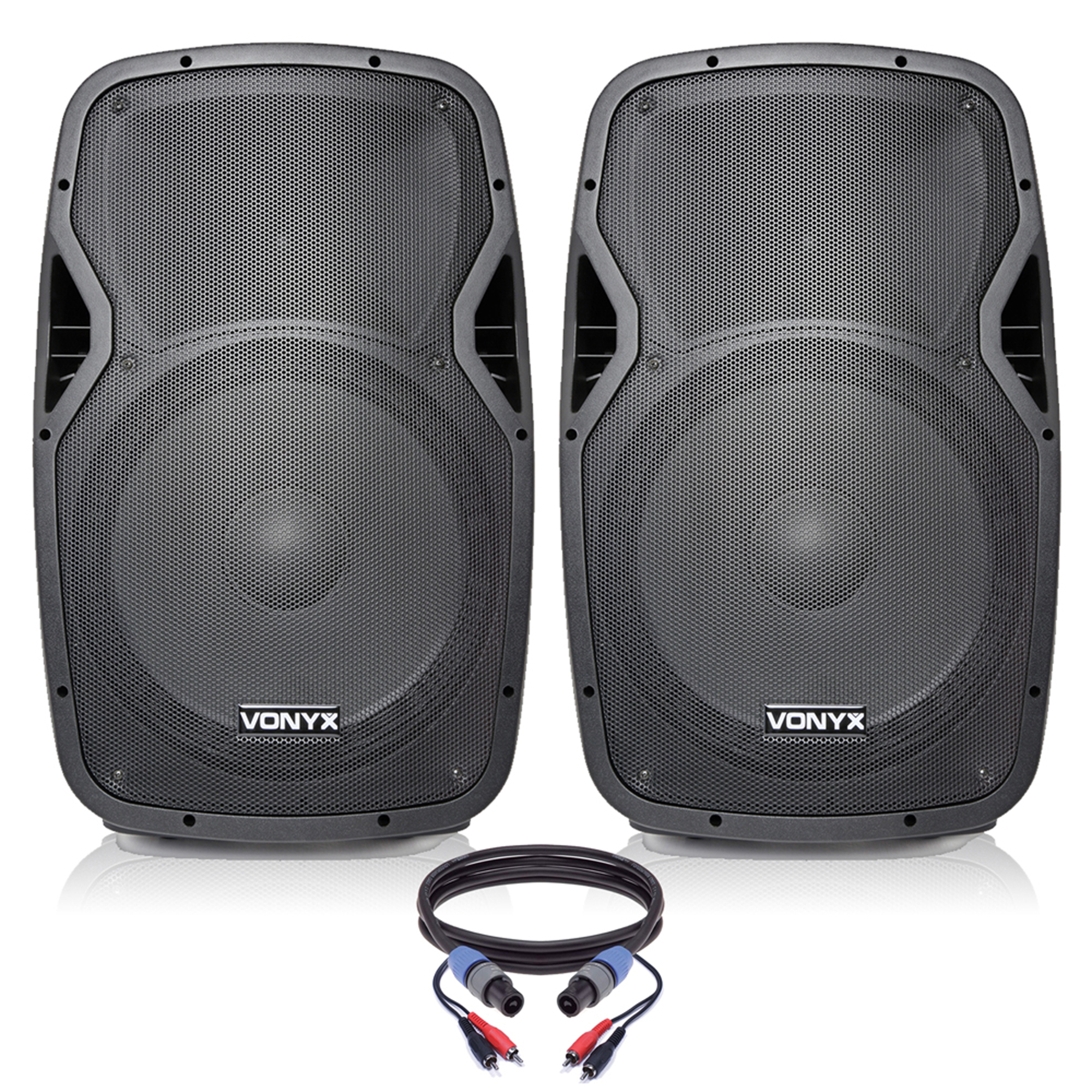 "Vonyx AP1500A 15"" Active DJ Speakers Pair"