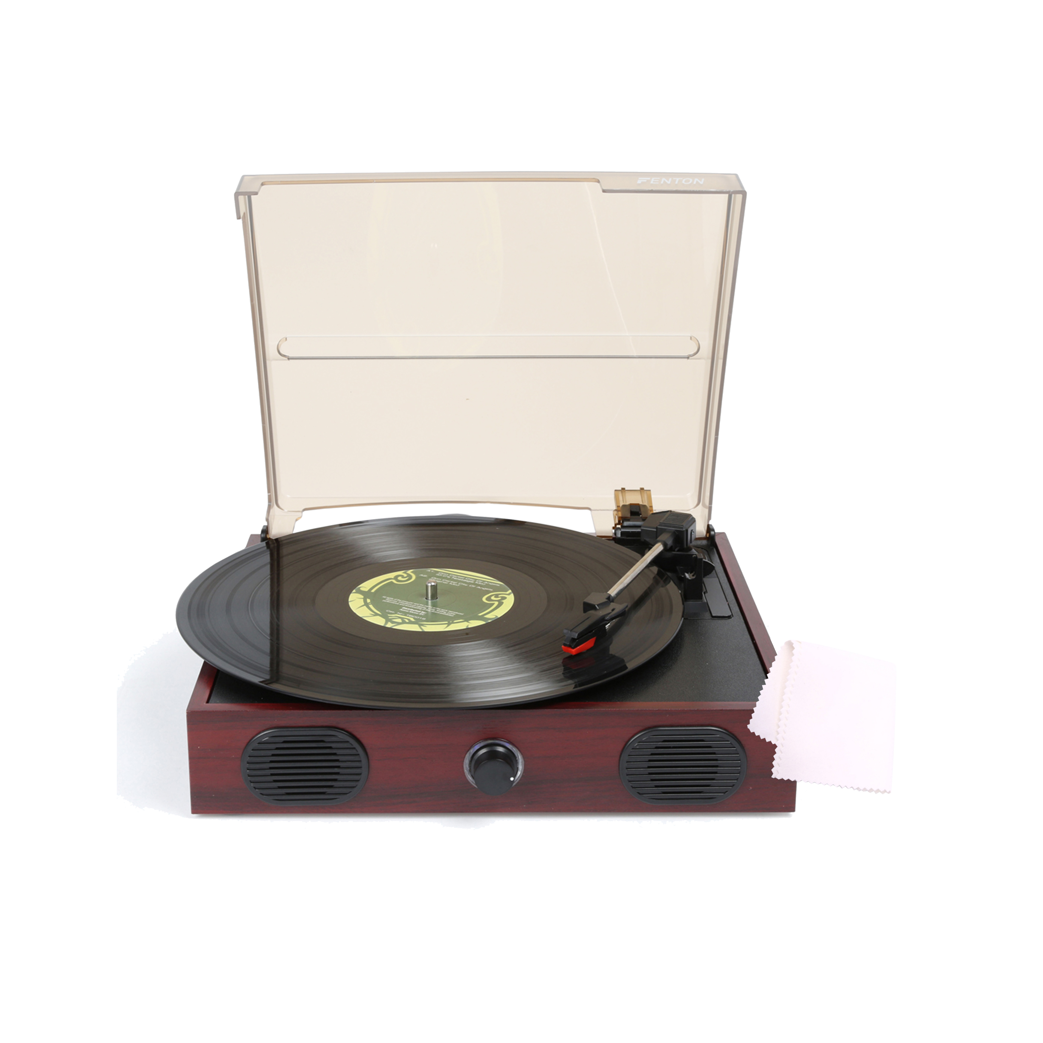 Fenton RP105 Record Player with Vinyl Cleaning Cloth