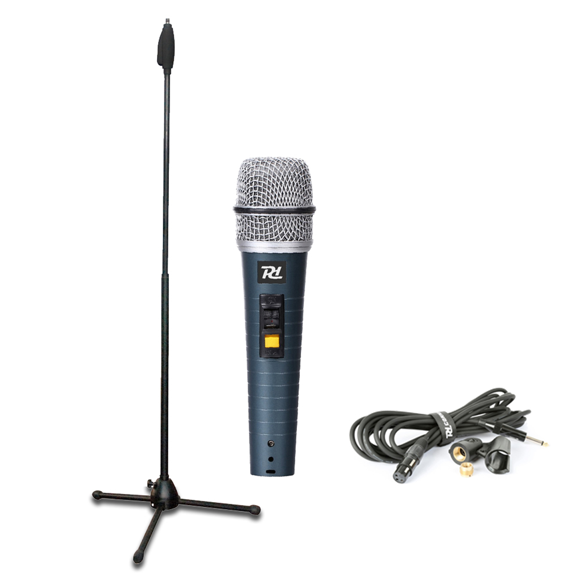 PD PDM663 Wired Handheld Microphone Kit & Adjustable Mic Stand