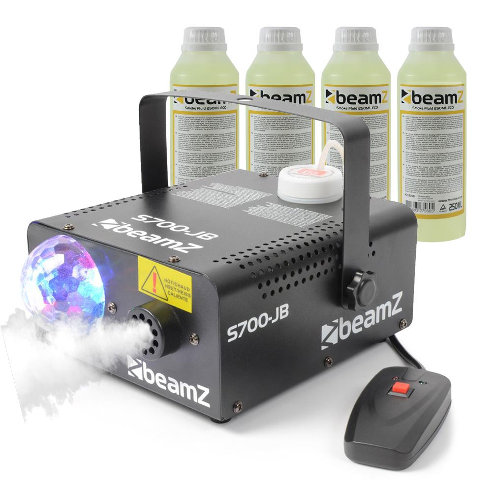BeamZ S700JB Smoke Machine with Lights & 1L Fluid