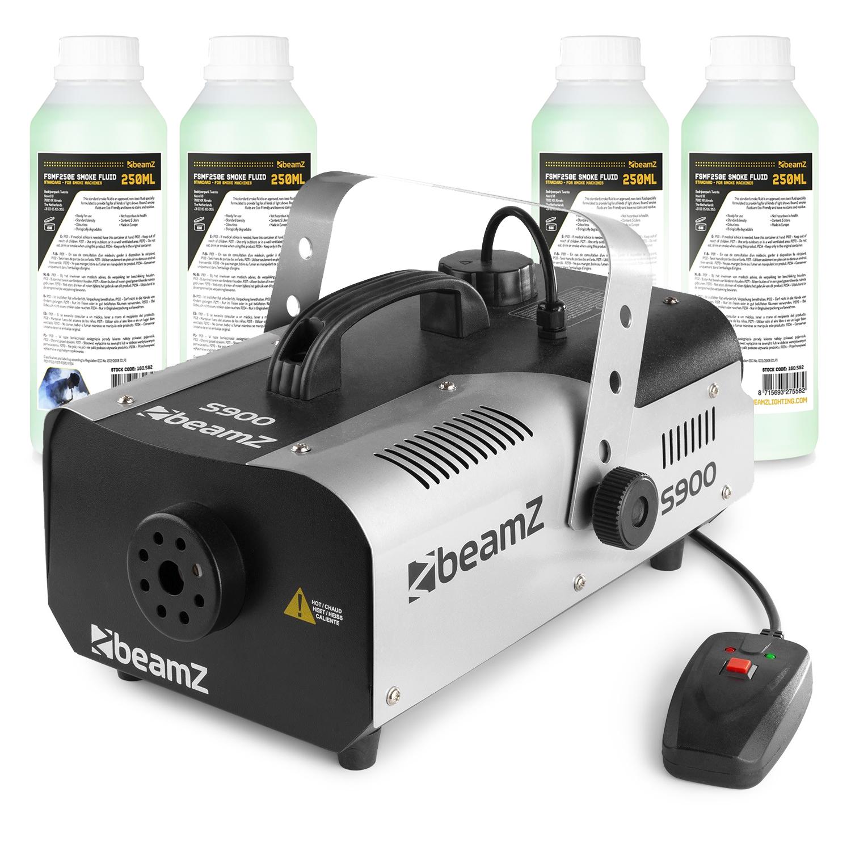 BeamZ S900 Smoke Machine with 1L Fluid