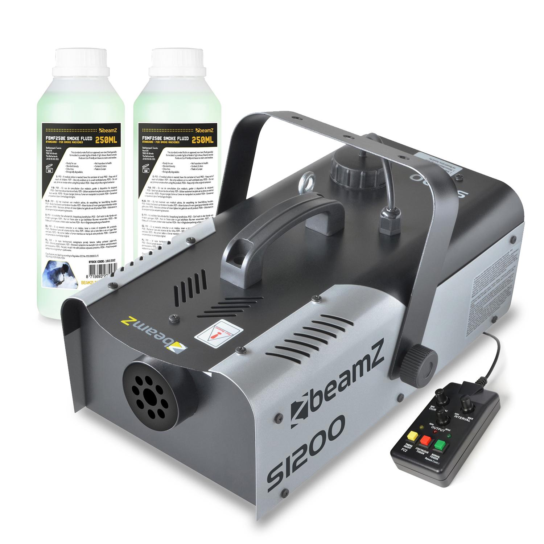 BeamZ S1200 DJ Smoke Machine & 500ml Fluid