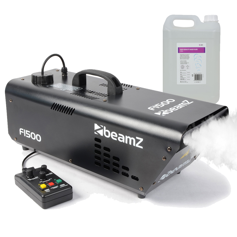 BeamZ F1500 DMX Haze Machine & 5L Fluid