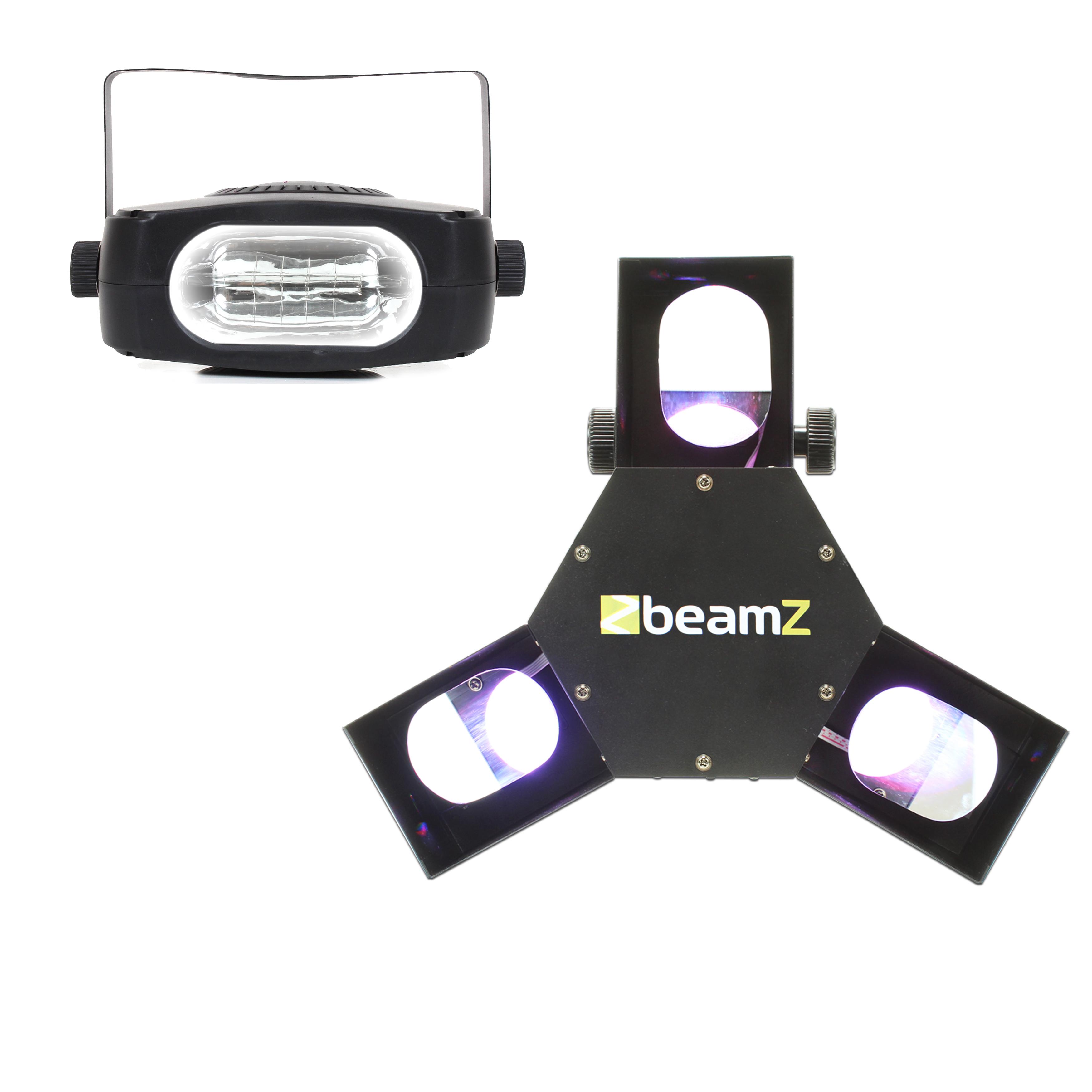 BeamZ Triple Flex LED Scanner Disco Light & Strobe Light