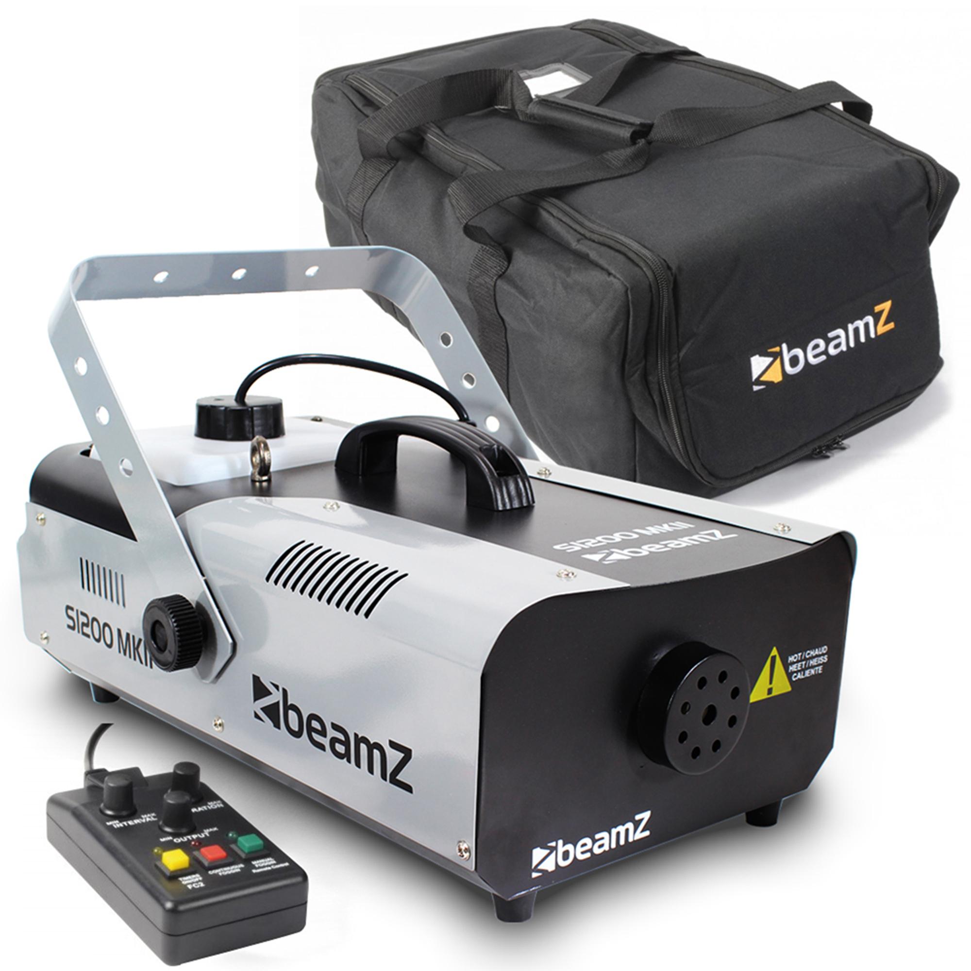 BeamZ S900 Smoke Machine Pair & Soft Case