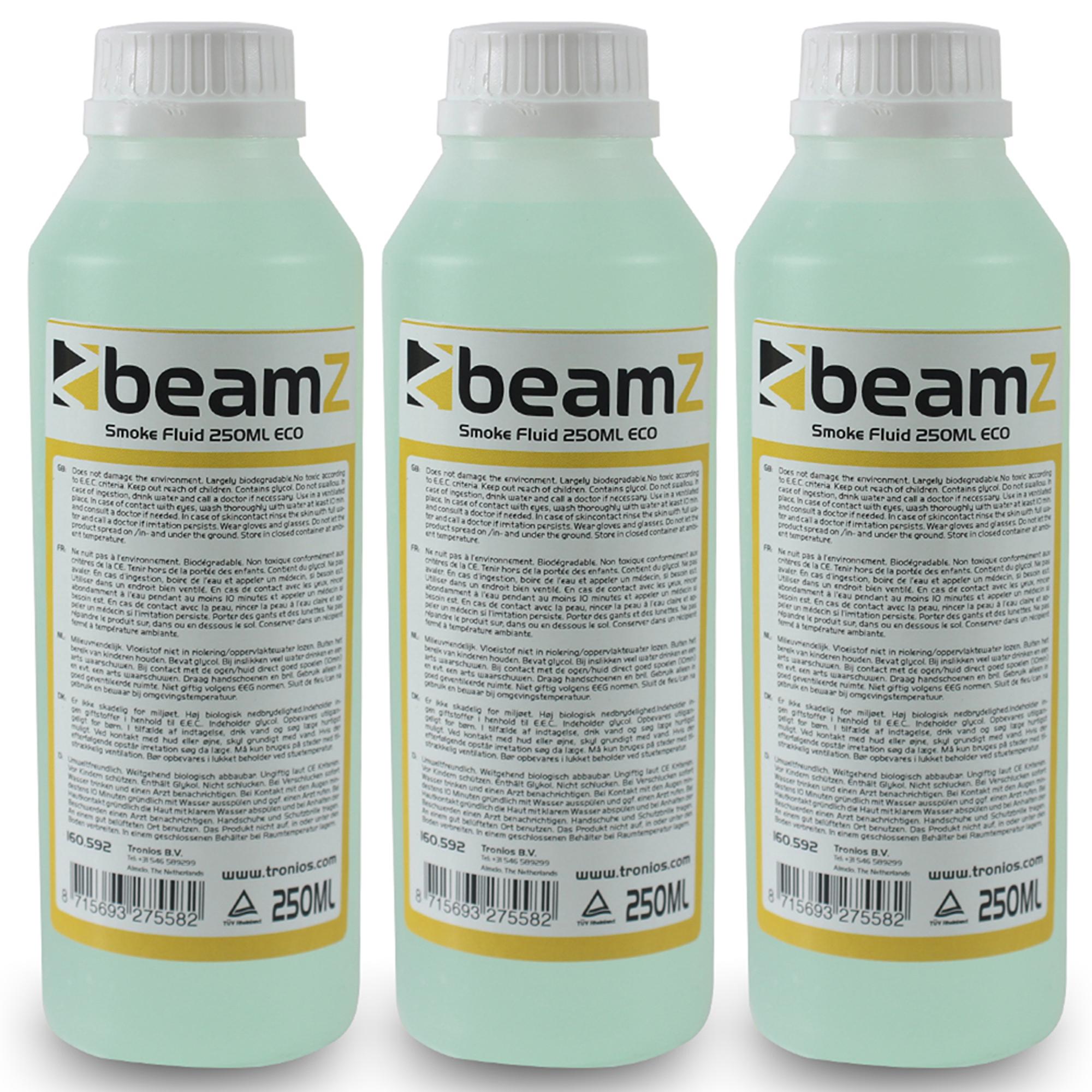 BeamZ ECO Smoke Machine Fluid 250ml, Set of 3