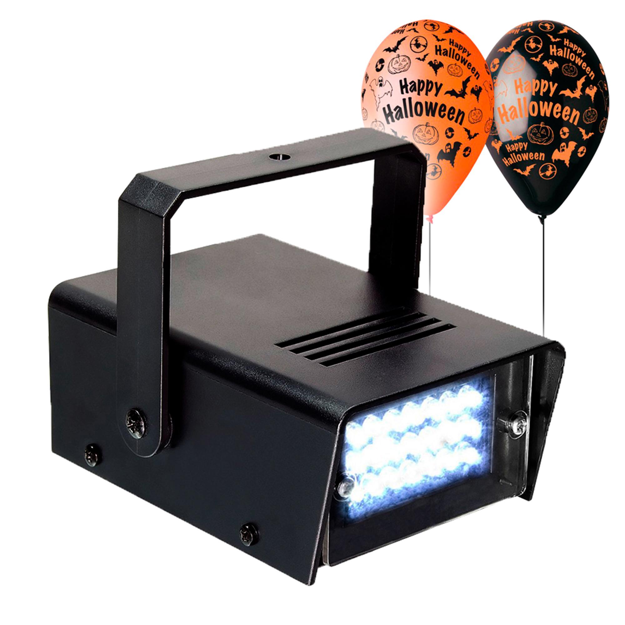 BeamZ Mini Stroboscope Strobe Light - Party Light & Halloween Balloon