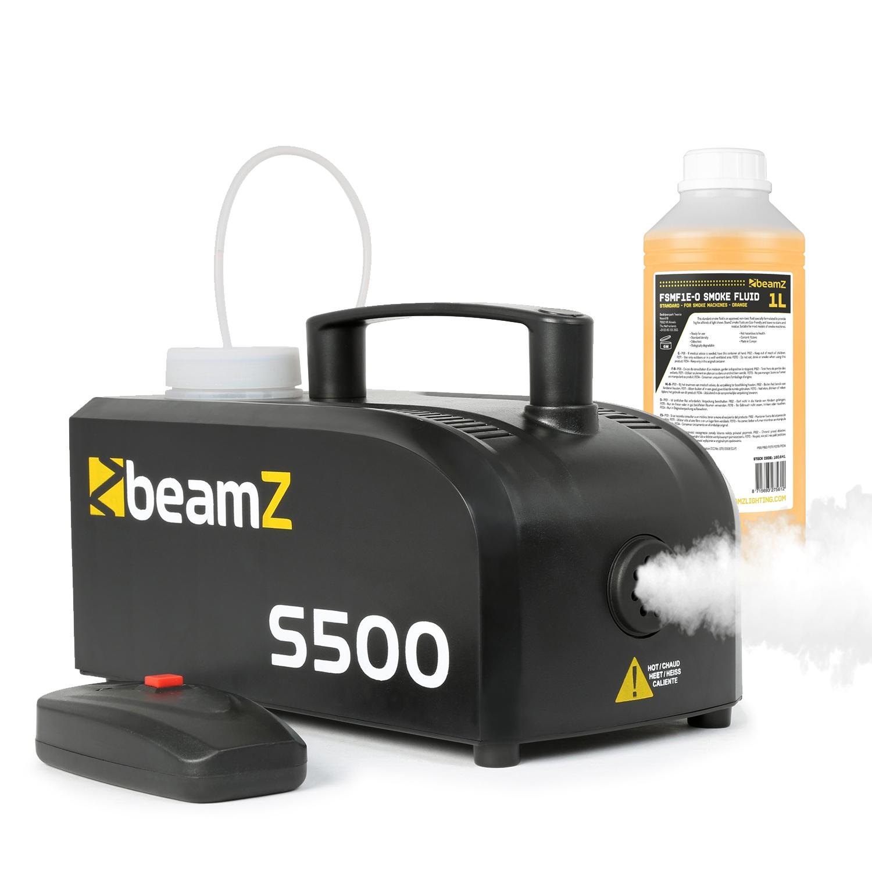 BeamZ S-500 Smoke Machine & 1L Yellow Fluid