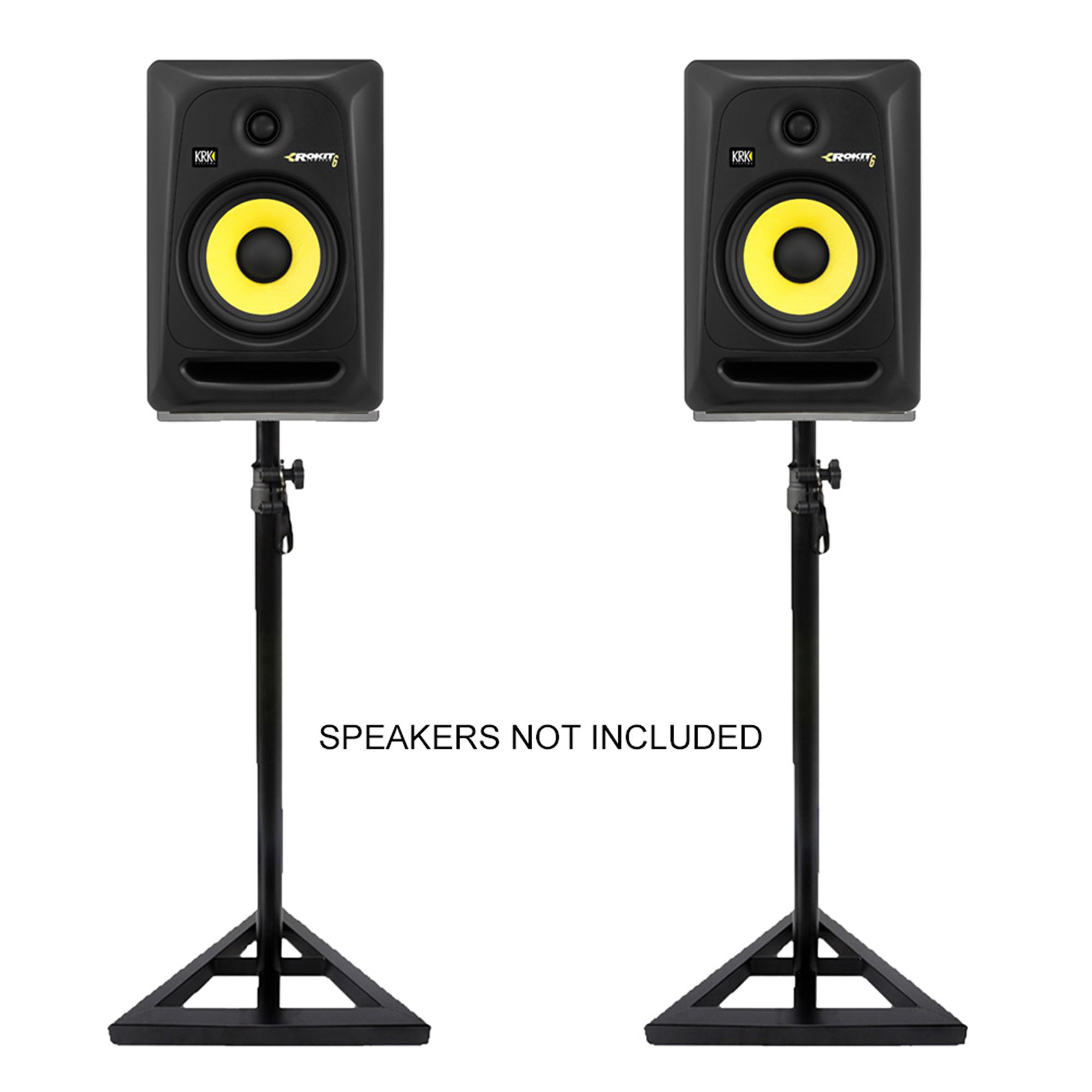 studio monitor stands adjustable hi fi studio speaker stands 5055839156416 ebay. Black Bedroom Furniture Sets. Home Design Ideas