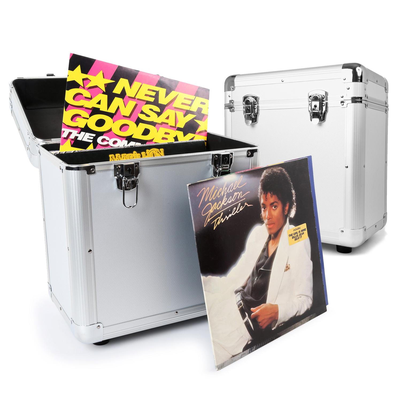 PD RC80 Silver Vinyl Record Case Pair