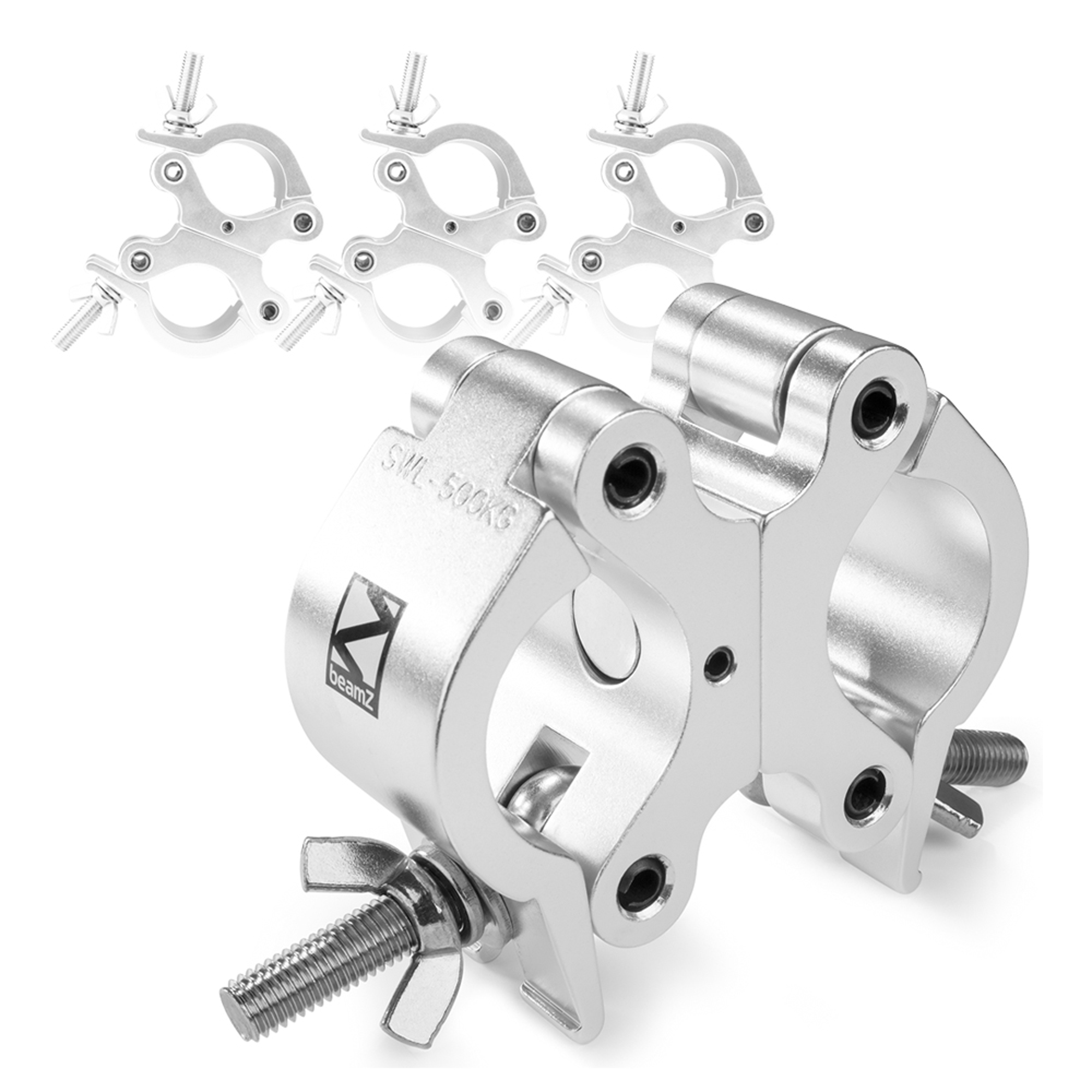 Details about 4 x Swivel Coupler Clamp Truss Goalpost Stage Lighting 48 -  51mm 500kg Aluminium