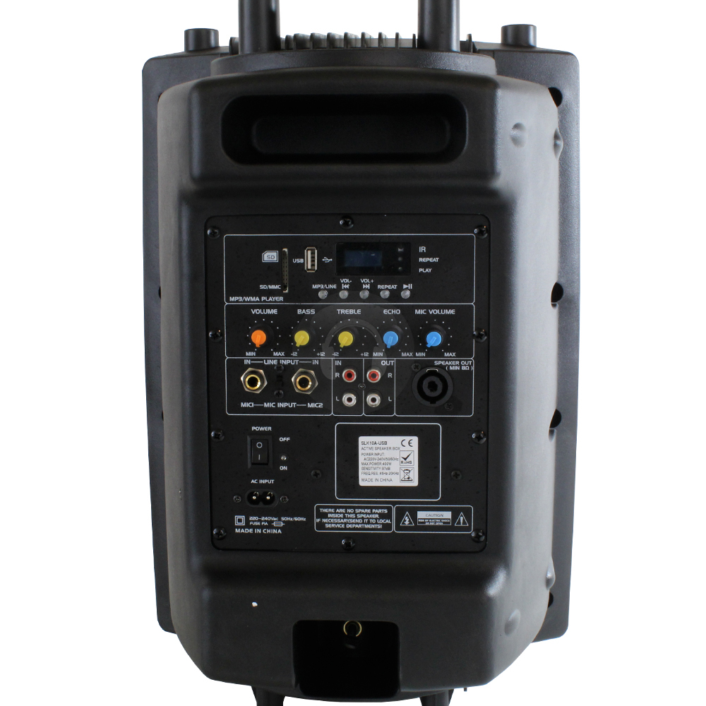 Active 10 Quot Portable Pa Speaker System Usb 200w Dj Disco