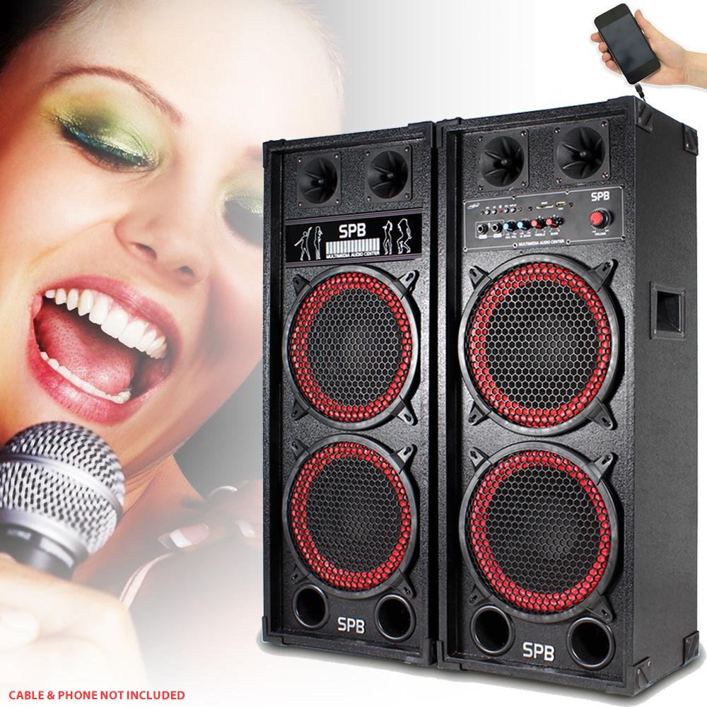 6 5 Quot 8 Quot 10 Quot 12 Quot Skytec Red Karaoke Active Disco Dj Party