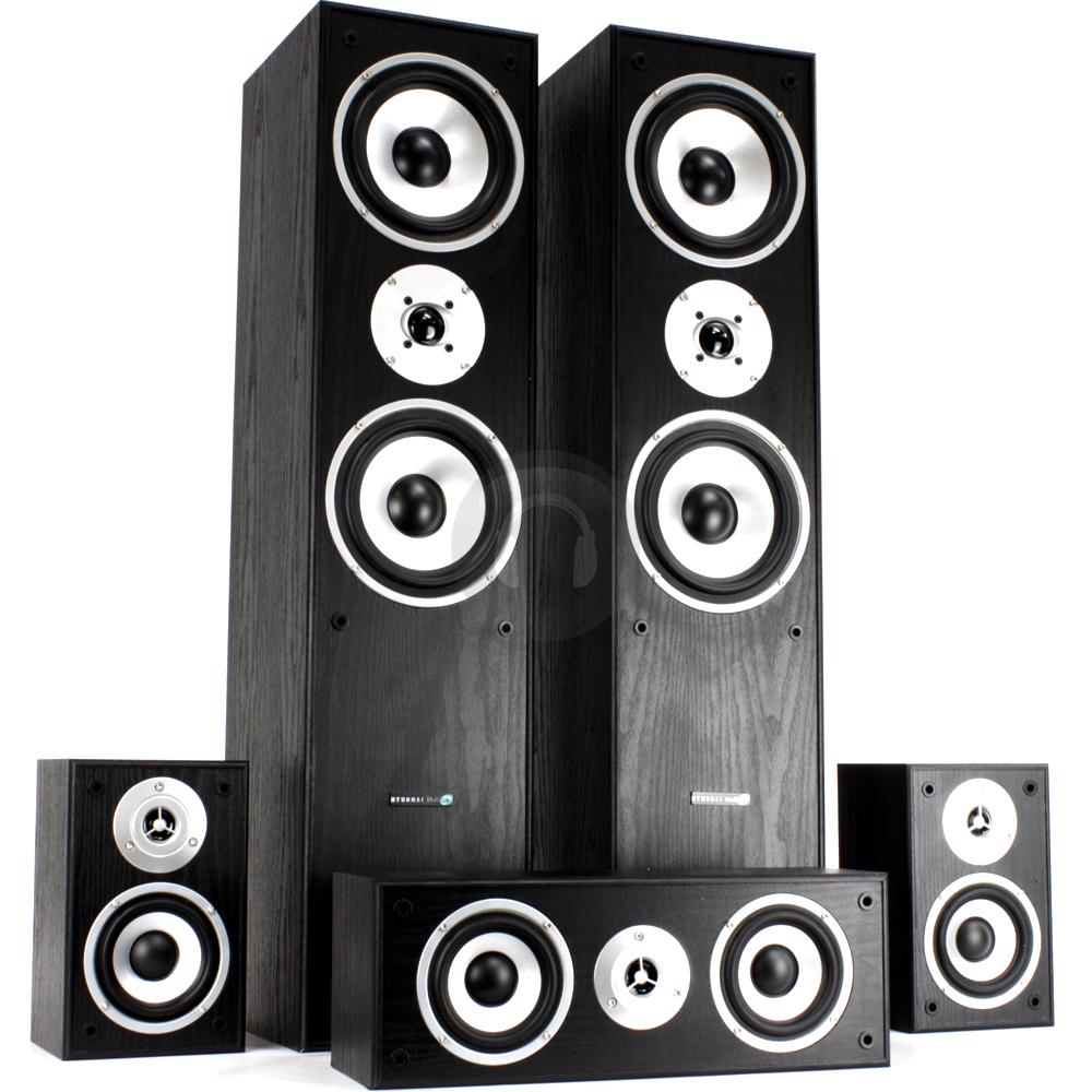 5 1 hifi surround sound system tower speakers subwoofer for Woofer speaker system