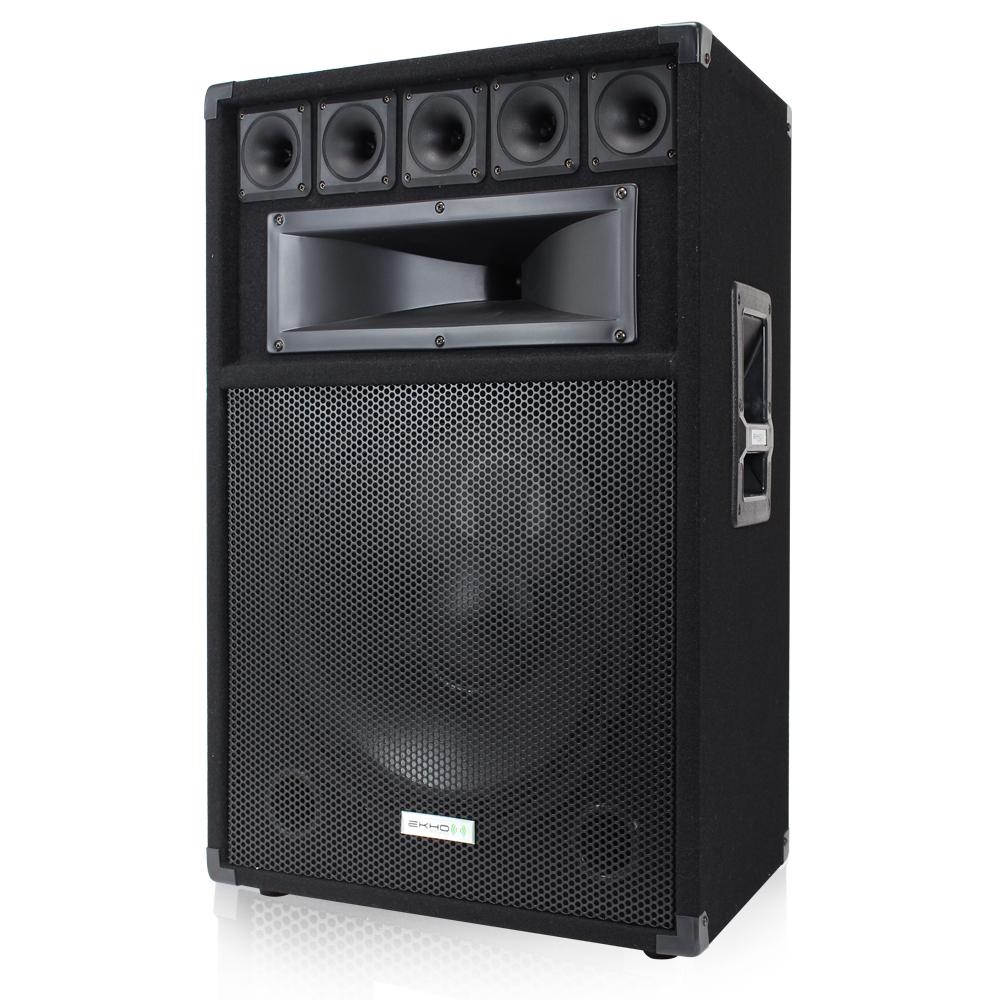 4x ekho 15 inch passive pa speakers power amplifier dj sound system 2400w ebay. Black Bedroom Furniture Sets. Home Design Ideas