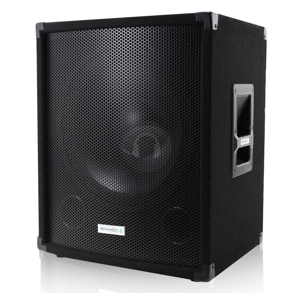 new ekho vx15sub 800w 15 inch speaker subwoofer bass sub. Black Bedroom Furniture Sets. Home Design Ideas