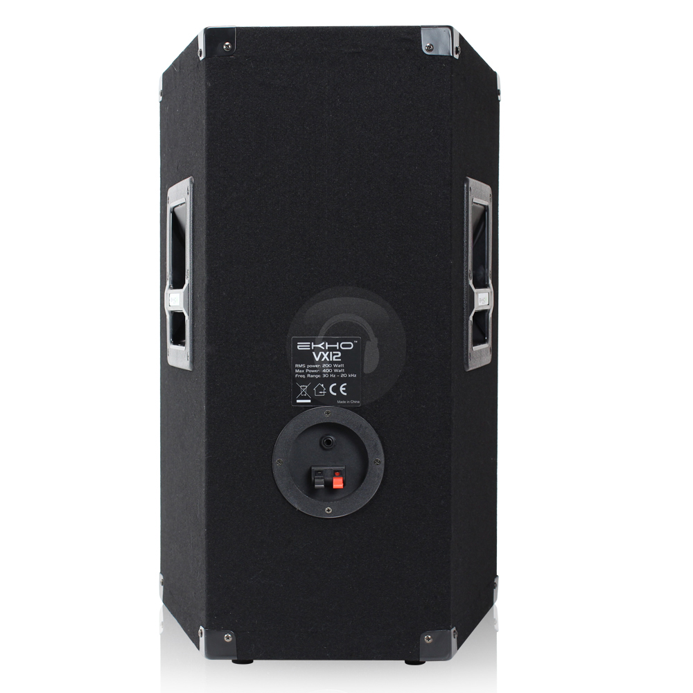 pair ekho vx12 12 inch passive speakers dj disco pa karaoke home party 800w max ebay. Black Bedroom Furniture Sets. Home Design Ideas
