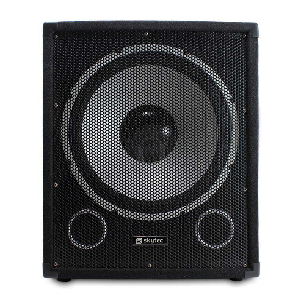 skytec 15 inch active pa subwoofer dj bass box sub party. Black Bedroom Furniture Sets. Home Design Ideas