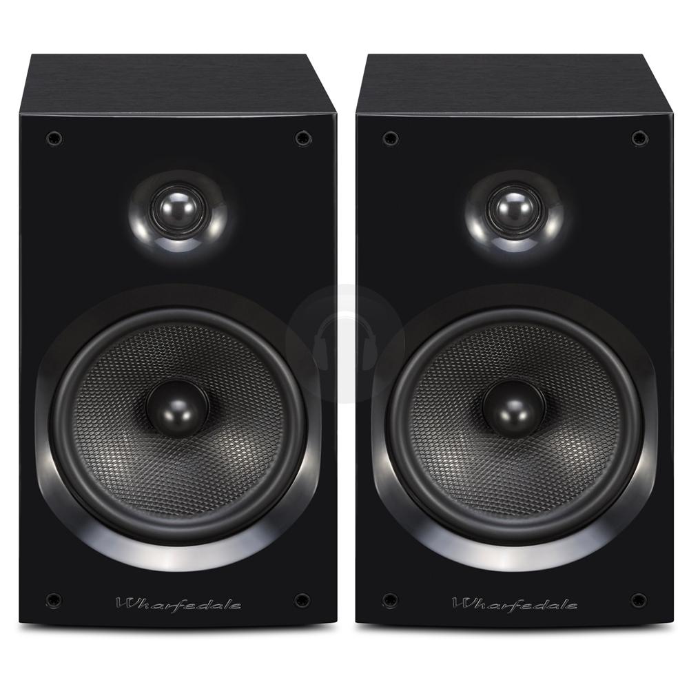 wharfedale quartz q1 black passive hifi satellite bookshelf speakers pair 100w ebay. Black Bedroom Furniture Sets. Home Design Ideas