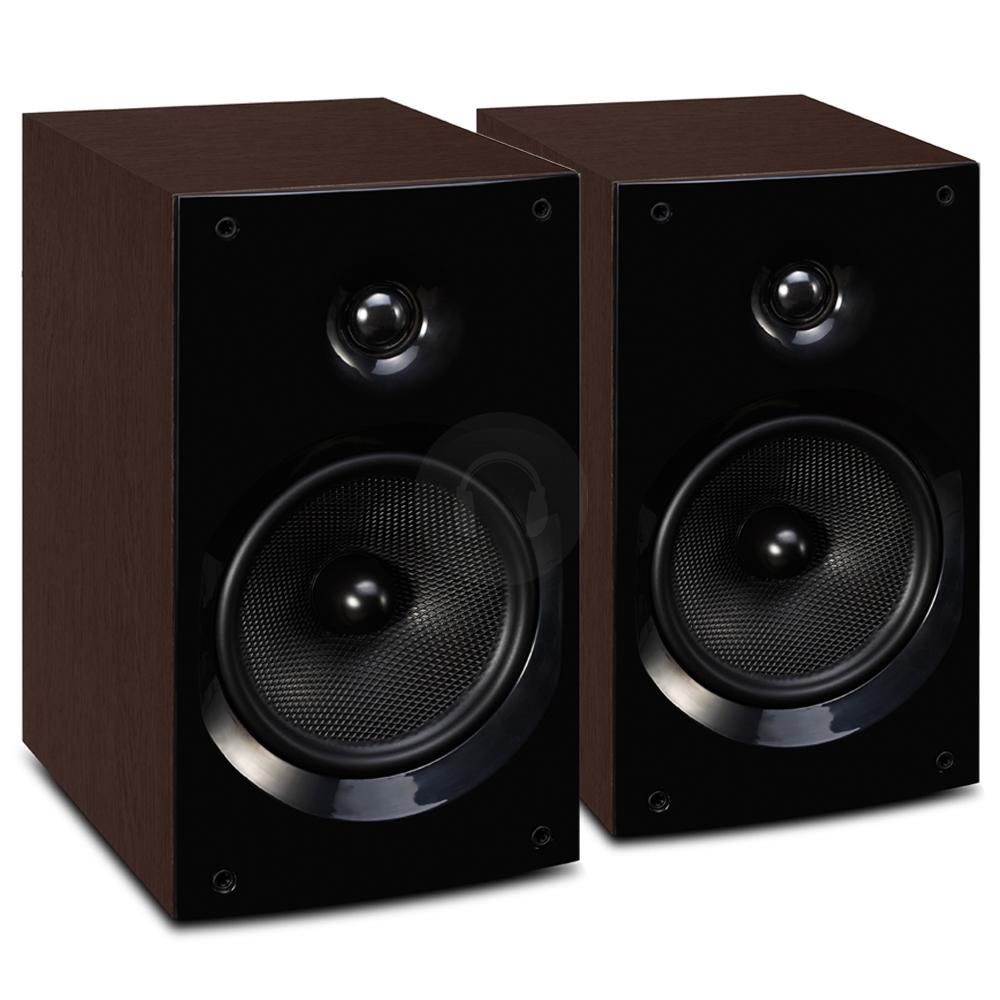 wharfedale quartz q1 walnut hifi surround sound home cinema speakers pair 100w ebay. Black Bedroom Furniture Sets. Home Design Ideas