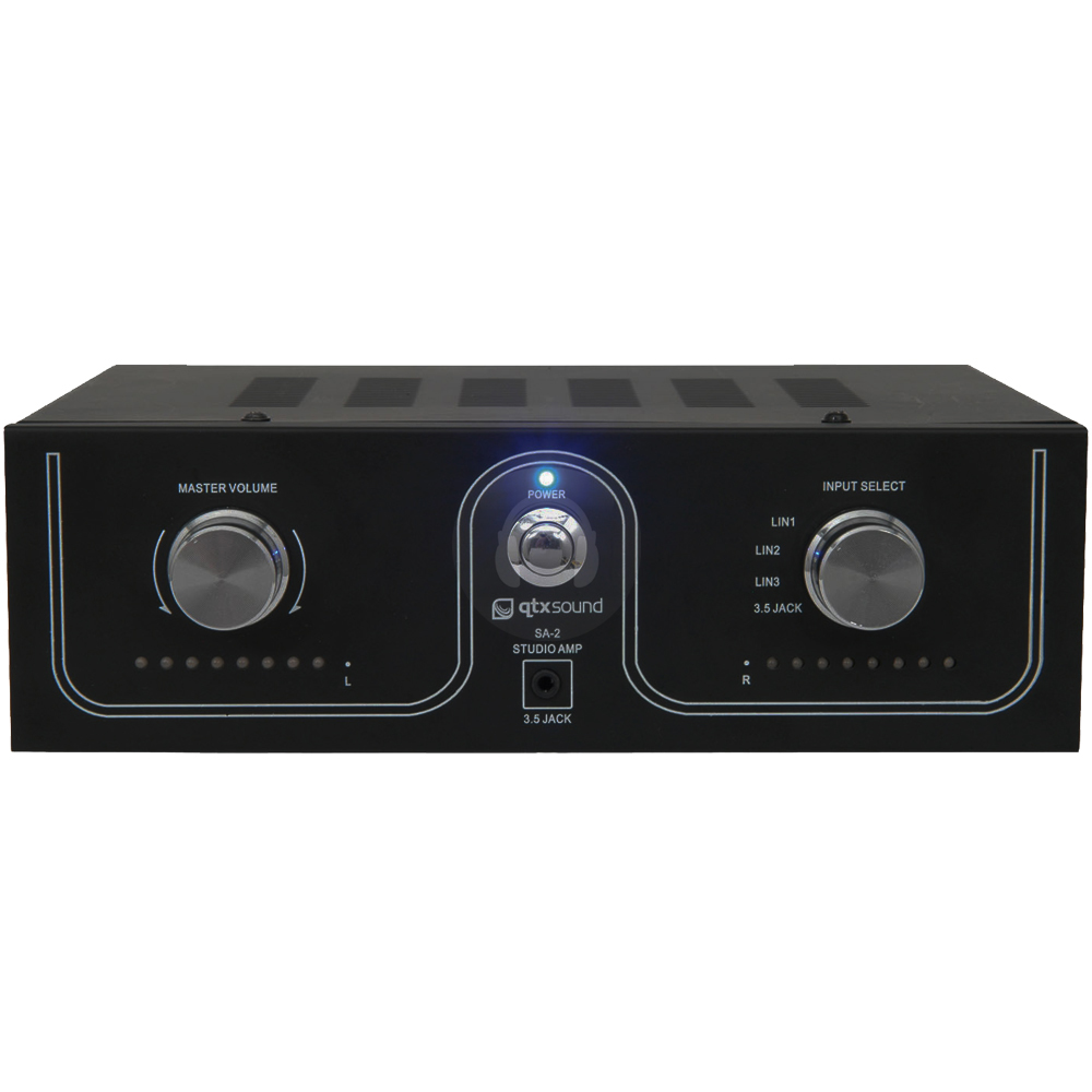 details about qtx sound sa 2 home bedroom dj stereo power amplifier