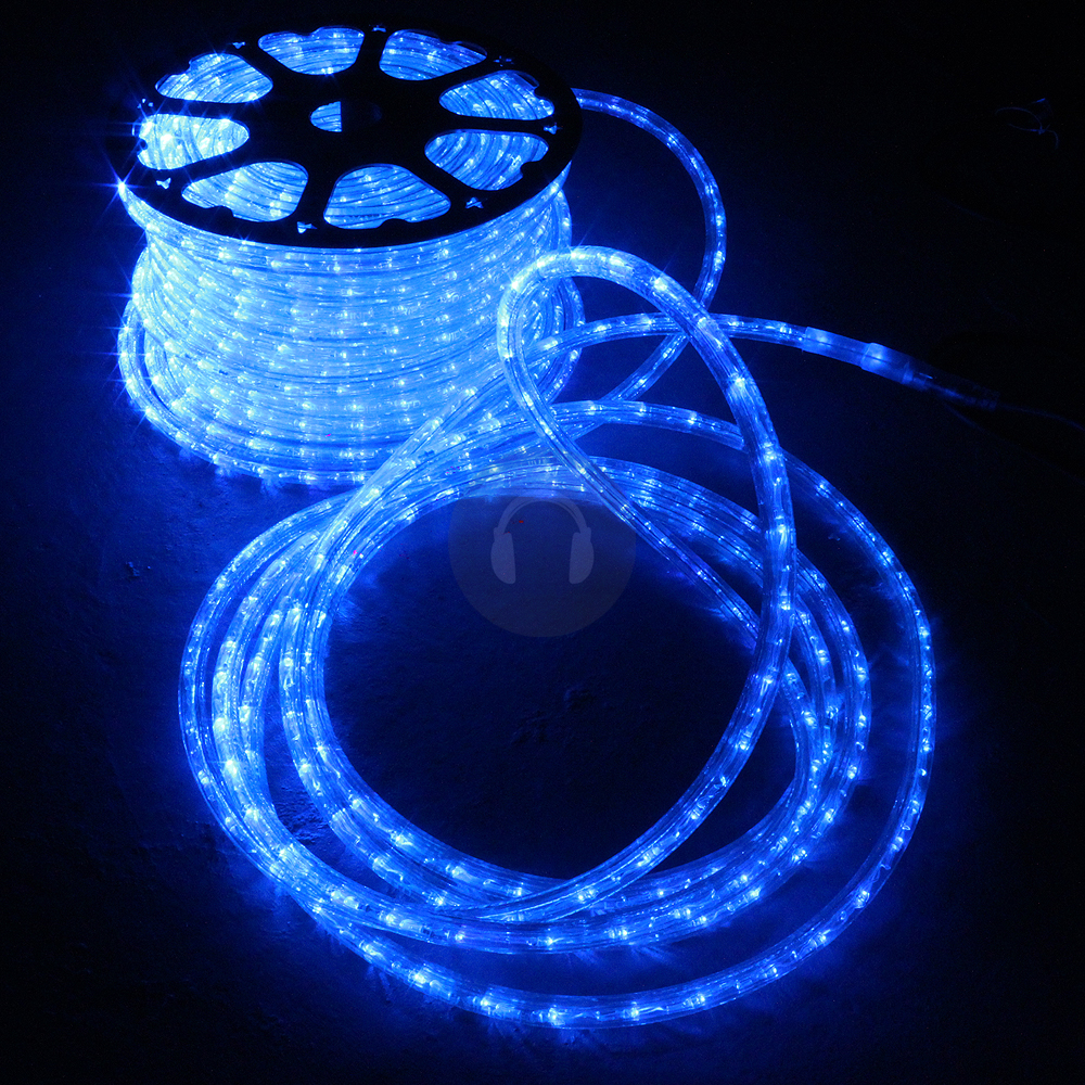 halloween 48m disco indoor outdoor garden led rope light blue lighting