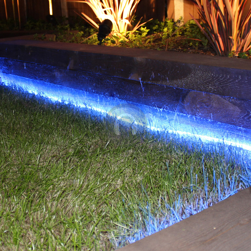 157ft led rope light home outdoor garden deck ropelight blue ebay
