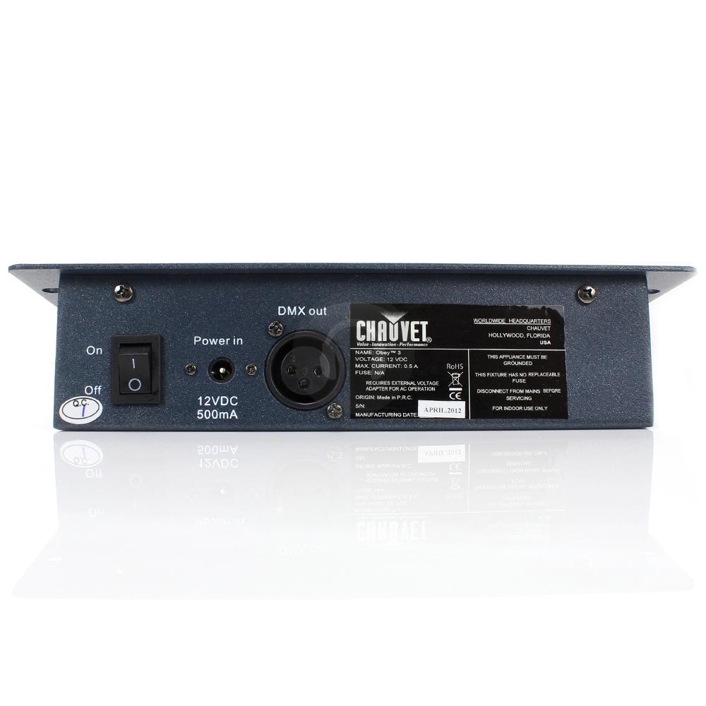 chauvet obey3 rgb led dmx 512 lighting controller dj ebay. Black Bedroom Furniture Sets. Home Design Ideas