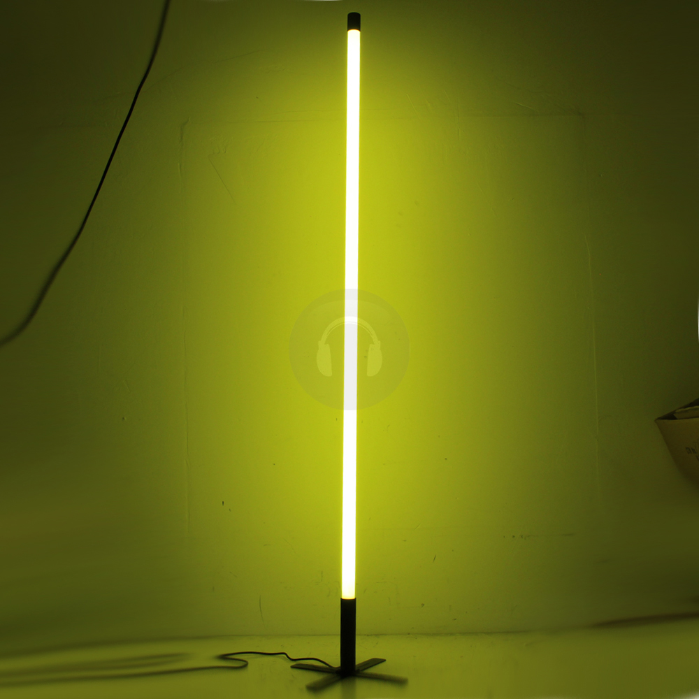 2x yellow neon tube lights decoration lighting effects stand dj disco club ebay. Black Bedroom Furniture Sets. Home Design Ideas