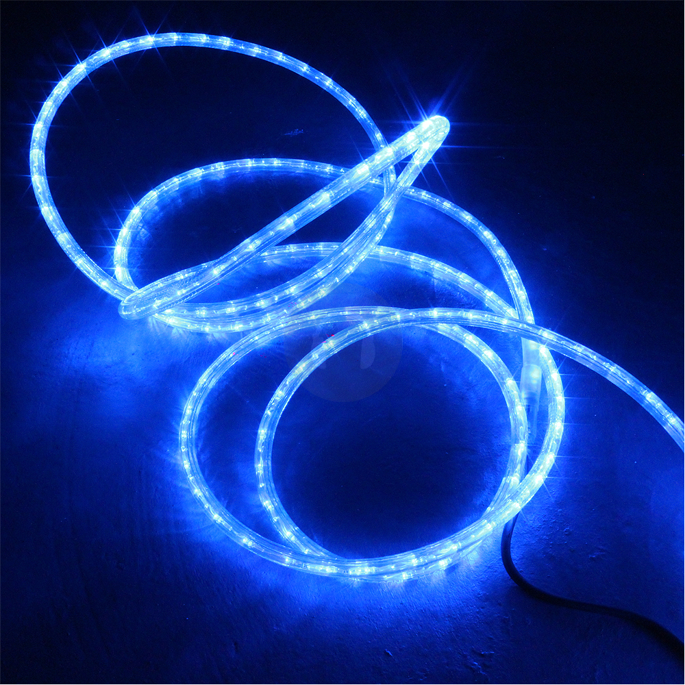 48m Blue Led Rope Light Static Chasing Tube Outdoor