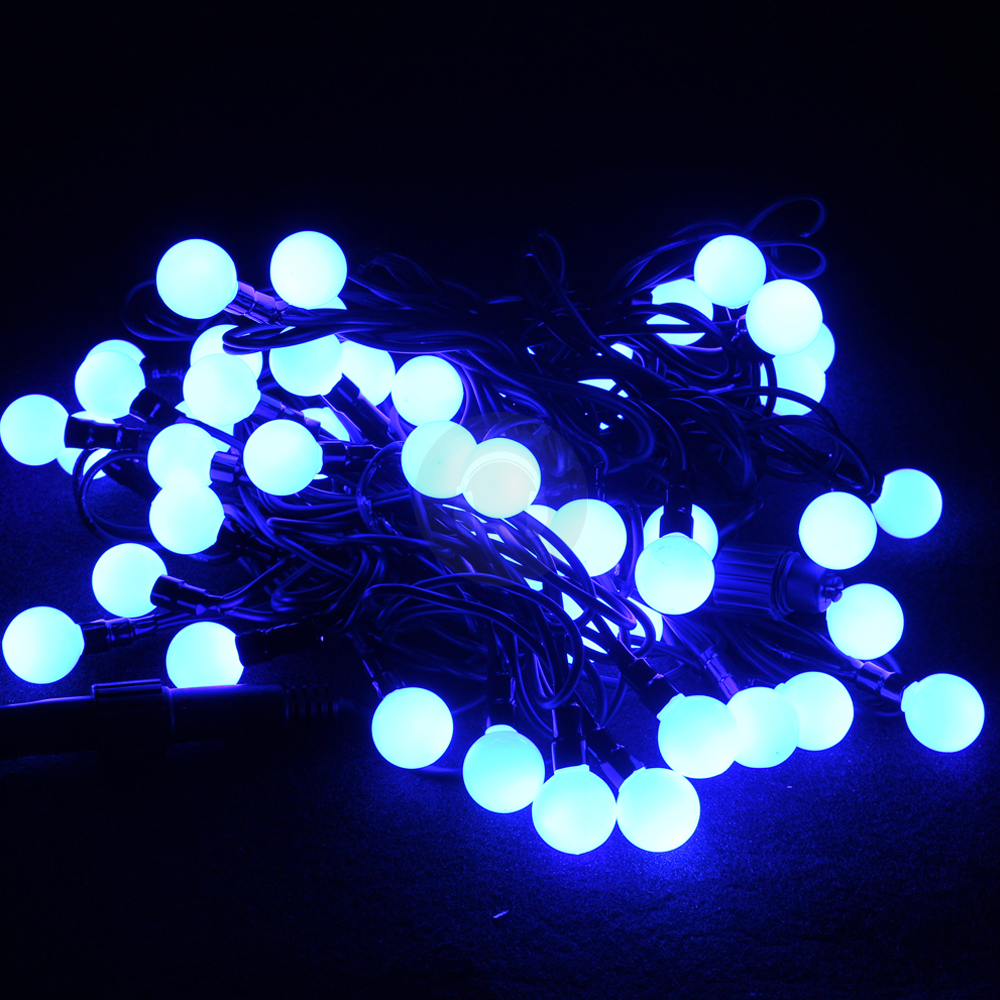 Blue LED Outdoor Glowing Globe String Fairy Lights Christmas Party DJ Lightin