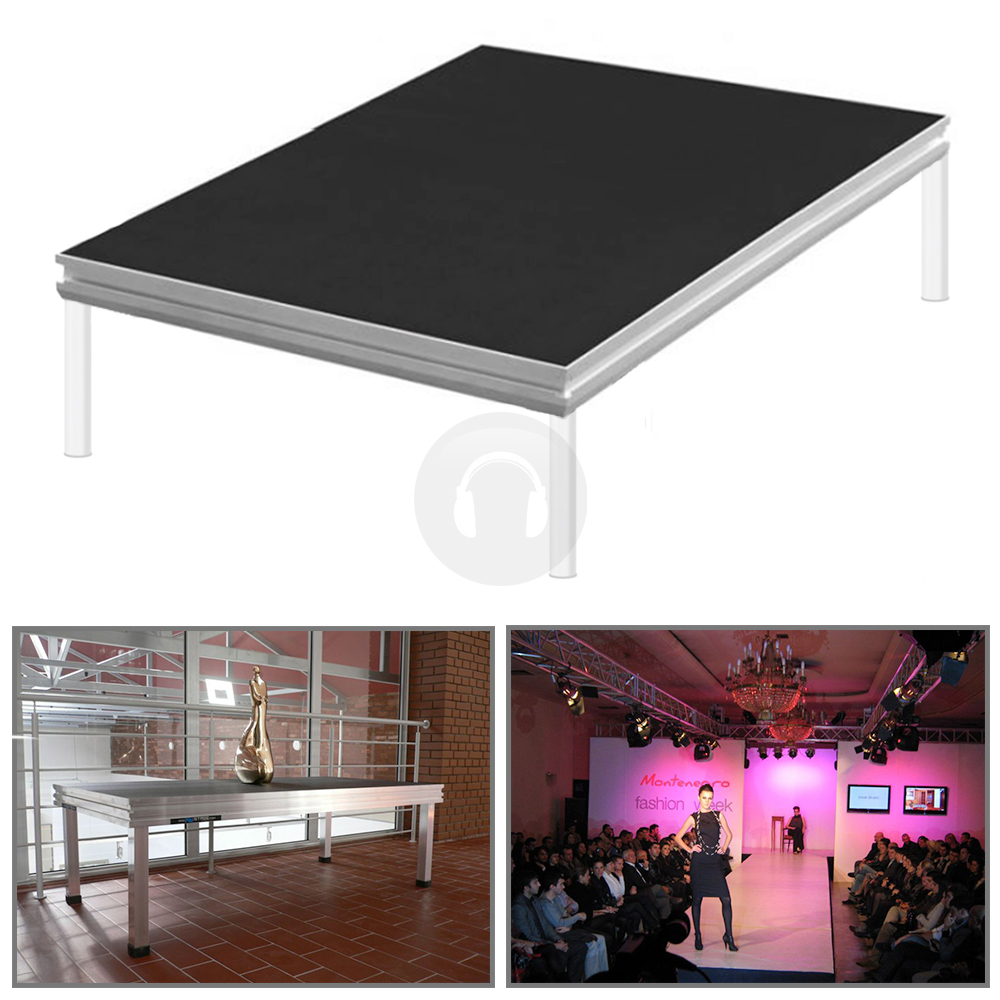 Portable staging presentation school church pa stage for Fenetre 2m x 1m