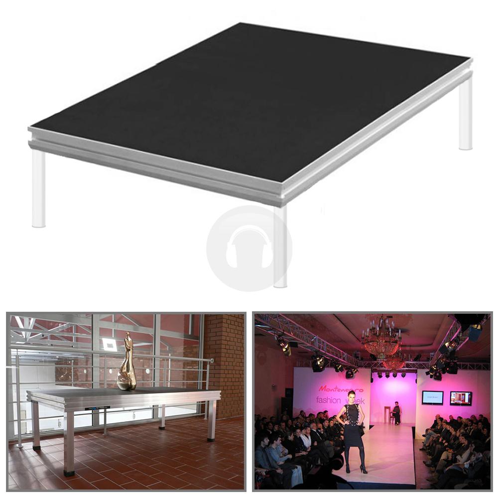 Portable staging presentation school church pa stage for Esstisch 2m x 1m