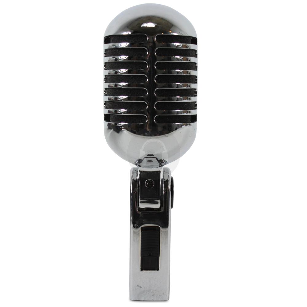 Chrome 50s 60s Retro Disco Vocal Microphone Karaoke