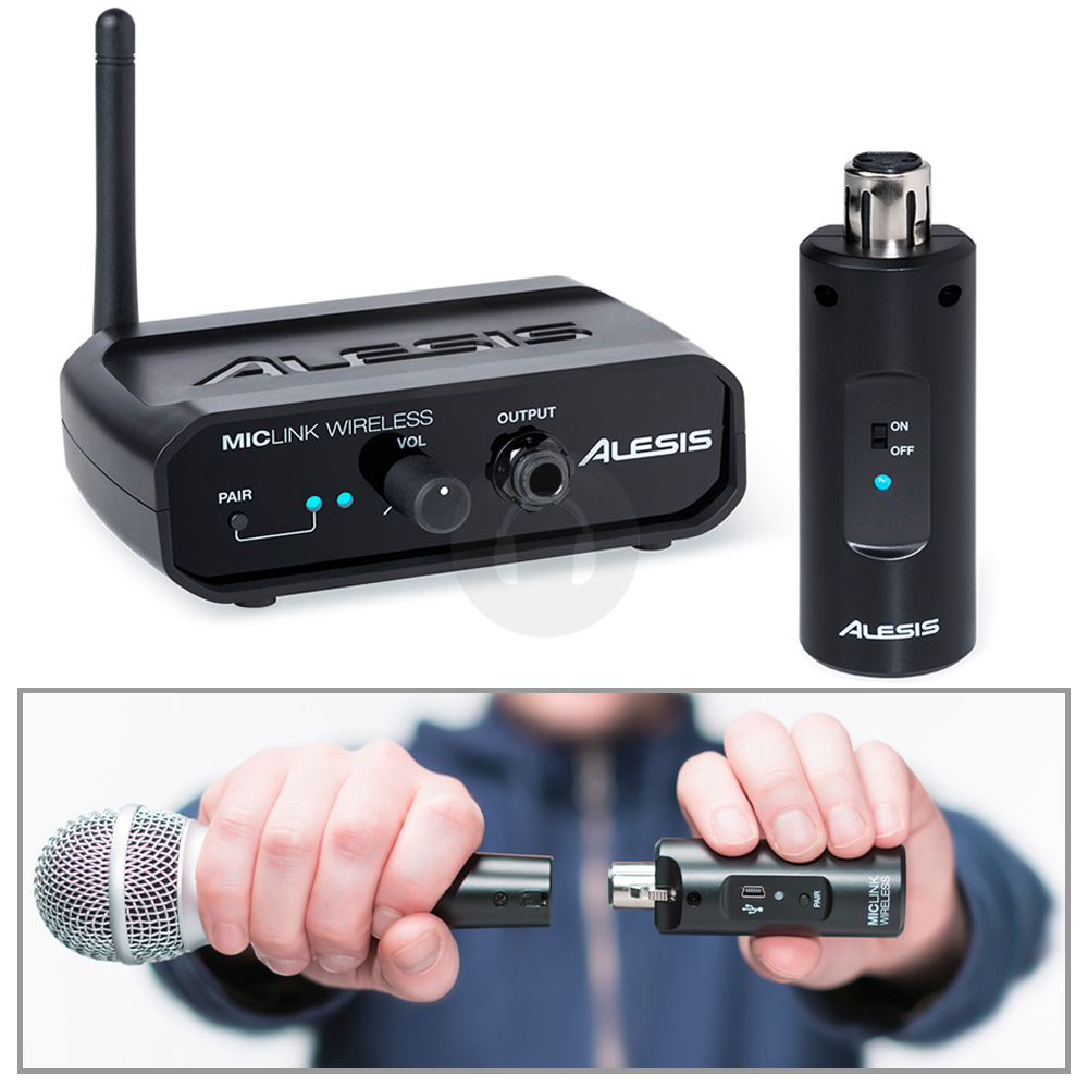 alesis miclink wireless pa microphone adapter usb xlr transform your wired mic ebay. Black Bedroom Furniture Sets. Home Design Ideas