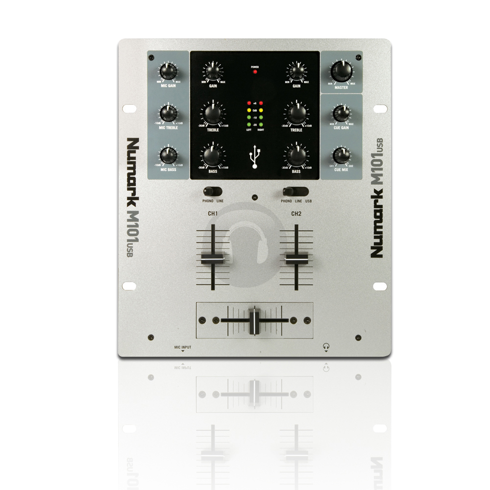 numark m101usb 2 channel dj mixer audio ebay. Black Bedroom Furniture Sets. Home Design Ideas